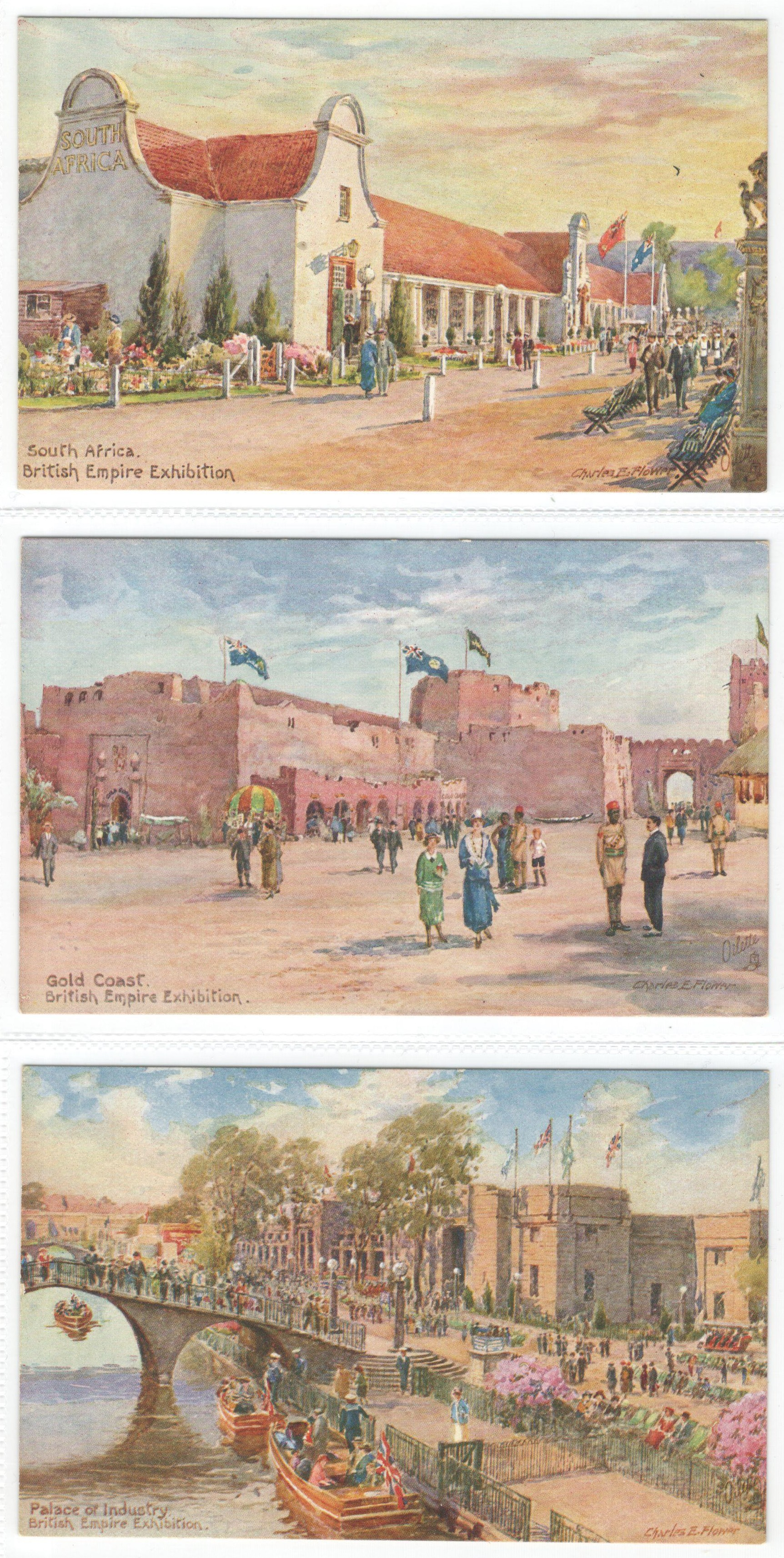 SET OF SIX RAPHAEL TUCK POSTCARDS - THE BRITISH EMPIRE EXHIBITION SERIES II - 3513 - Image 2 of 3