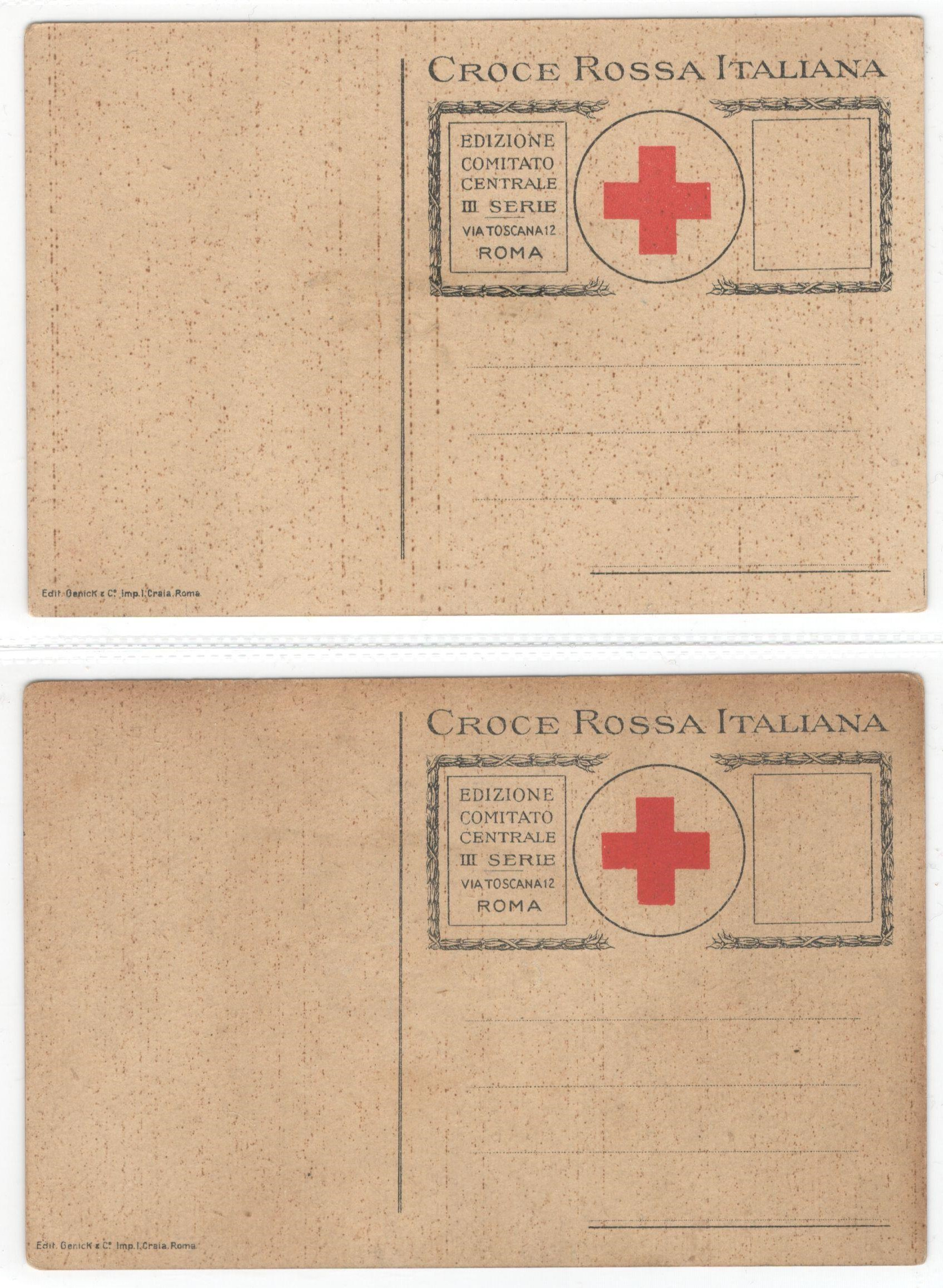 TWO VINTAGE ITALIAN RED CROSS POSTCARDS - CROCE ROSSA ITALIANA FRATTURE & ASFISSIA - Image 2 of 2