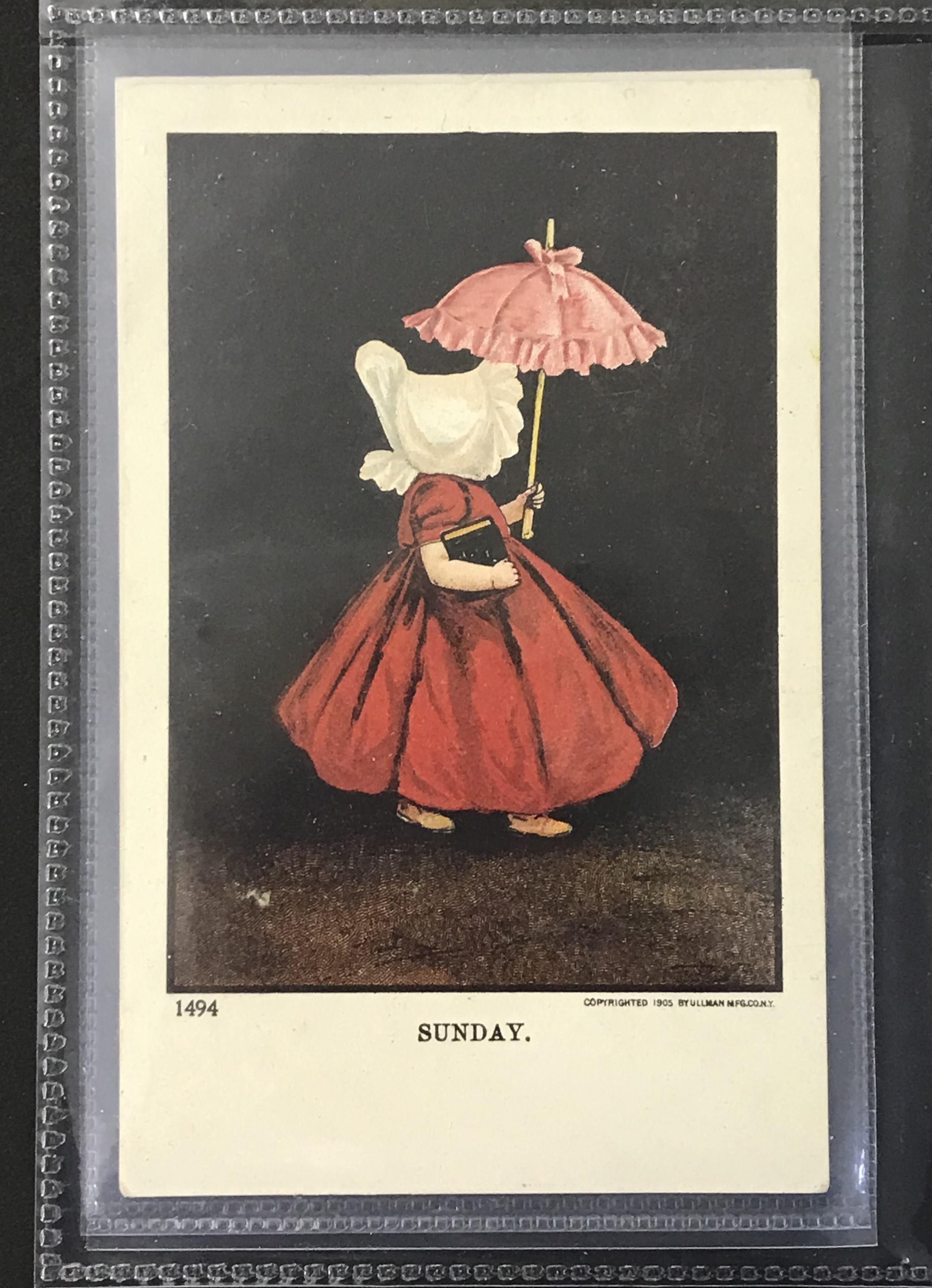 Ullman Manufacturing Co. Postcards - Complete set of Sunbonnet Baby Days - Image 10 of 11
