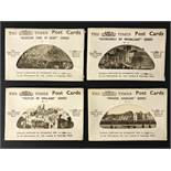 FOUR COMPLETE SETS OF SIX POSTCARDS BY THE TIMES