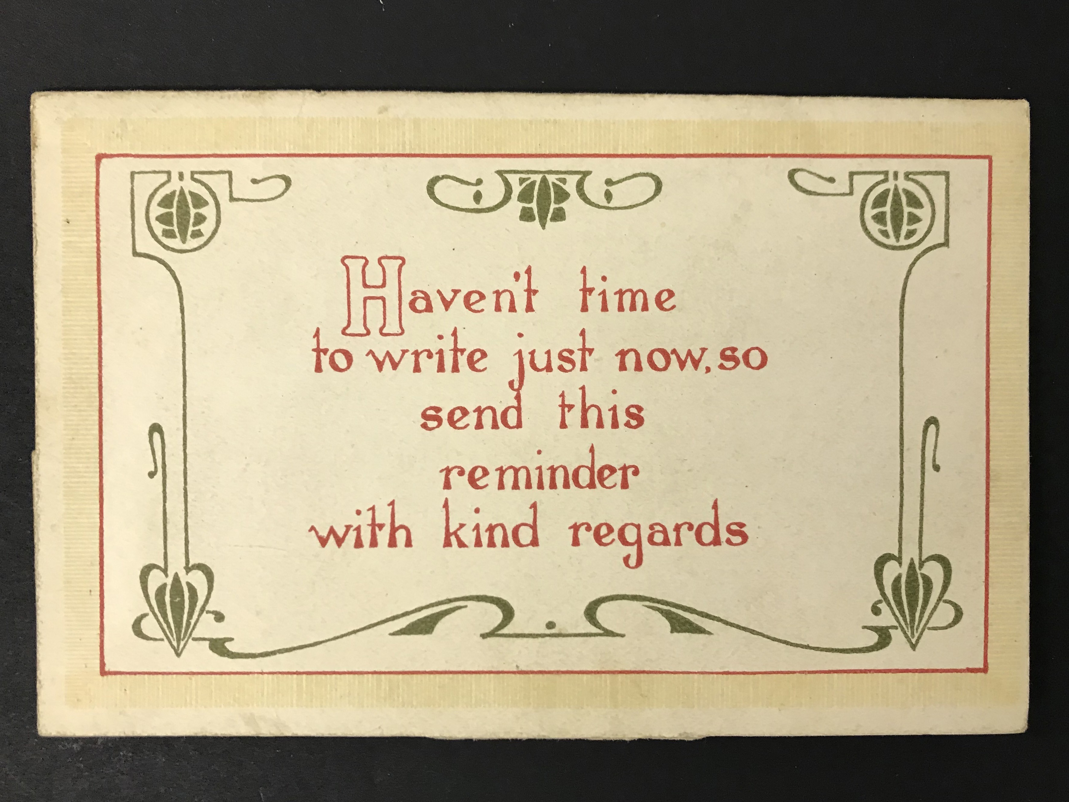 THE PICTURESQUE NOVELTY CARD IN ART NOUVEAU STYLE WITH TWELVE VIEWS