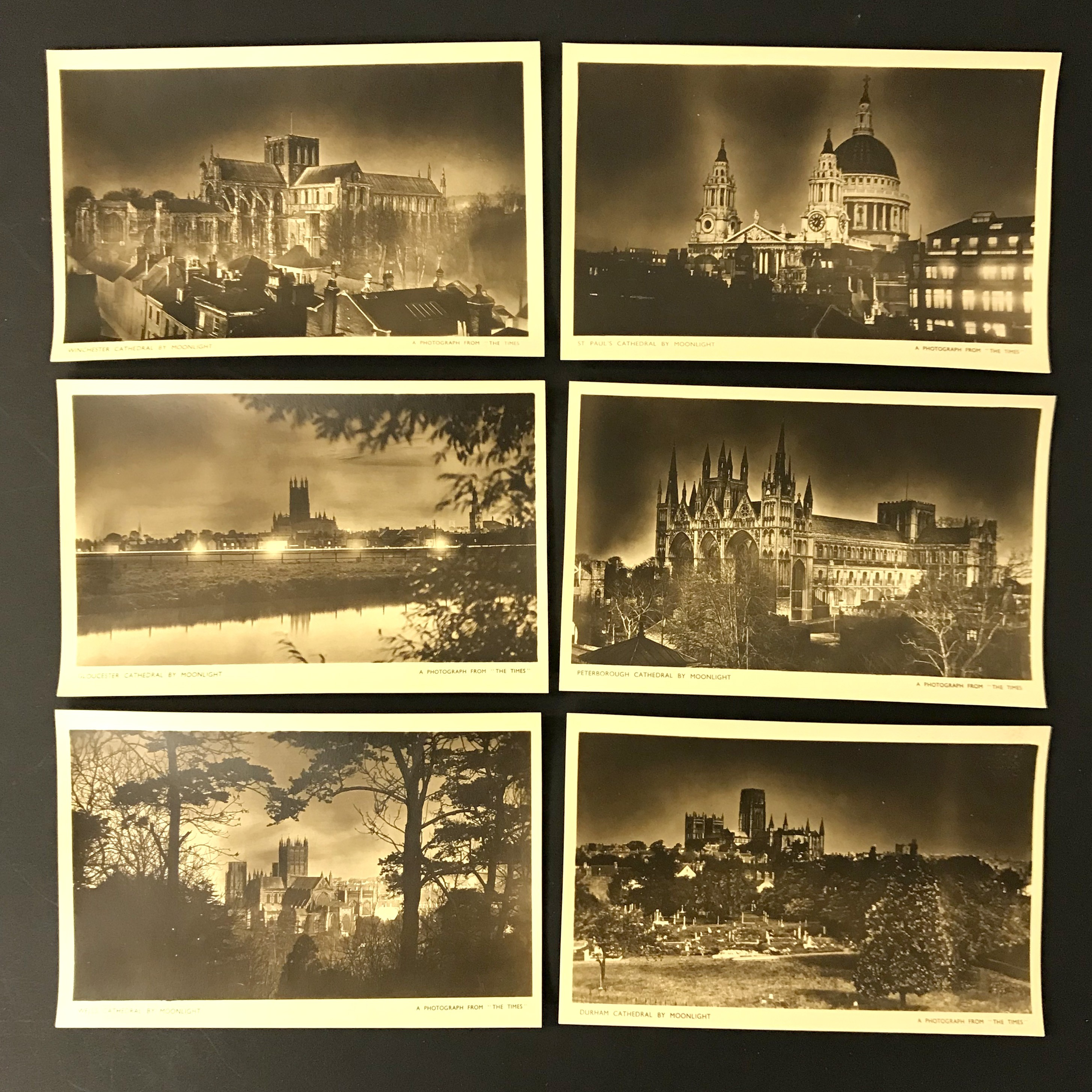 FOUR COMPLETE SETS OF SIX POSTCARDS BY THE TIMES - Image 5 of 5