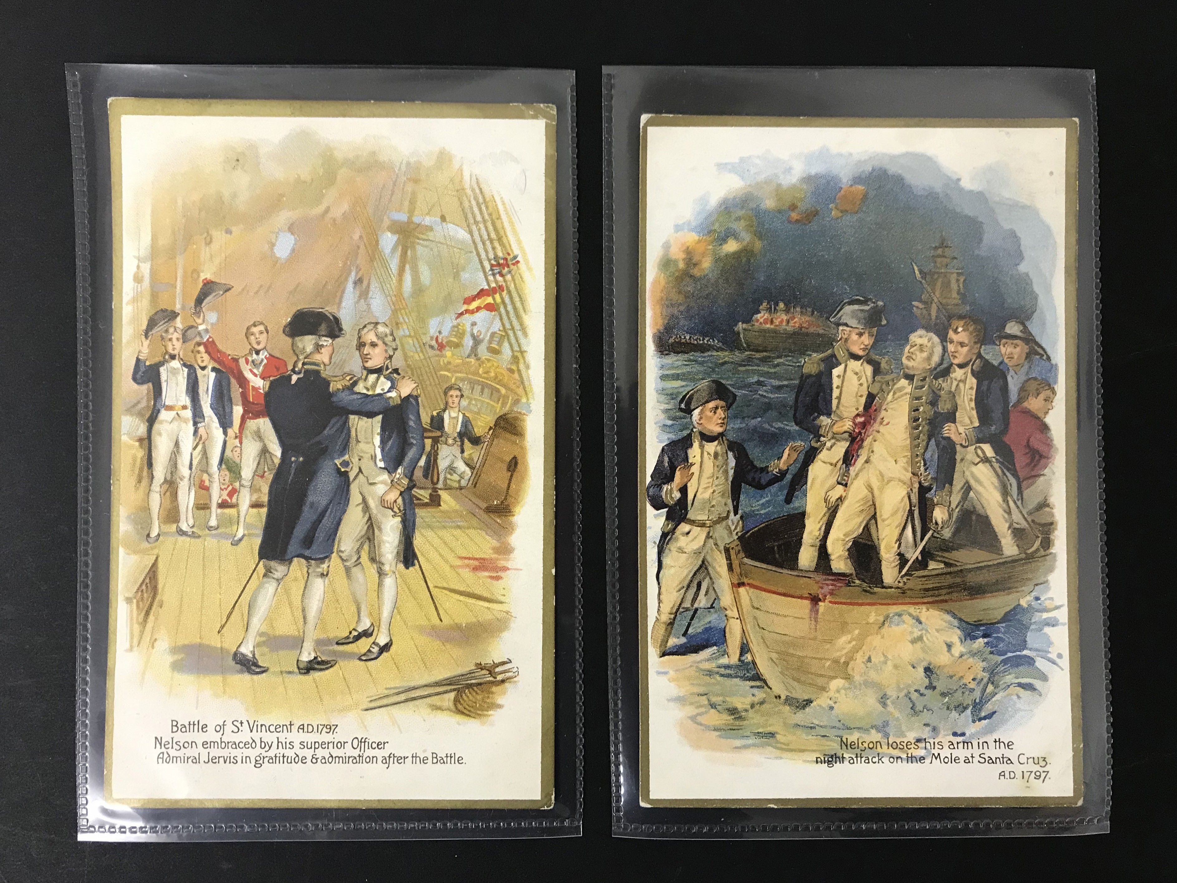 SET OF EIGHT OLD UNUSED POSTCARDS - LORD NELSON - Image 3 of 6