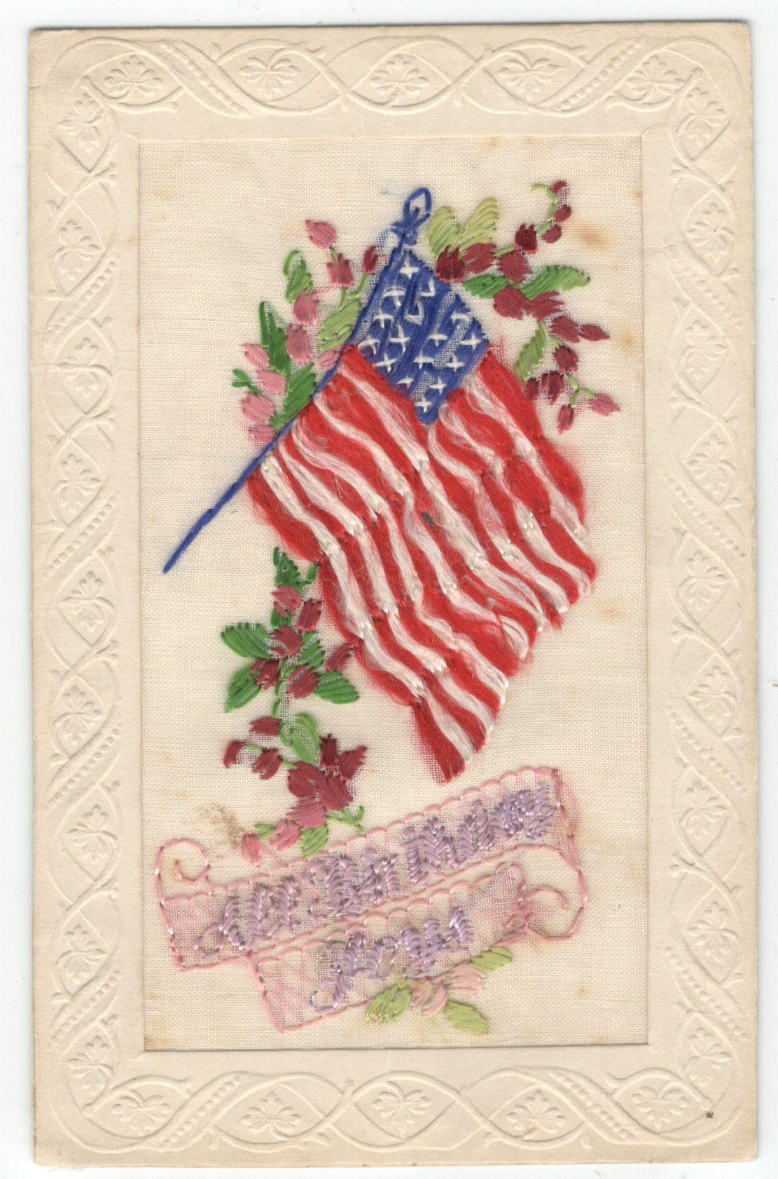 FIFTEEN EARLY EMBROIDERED SILK POSTCARDS IN VARIOUS CONDITION