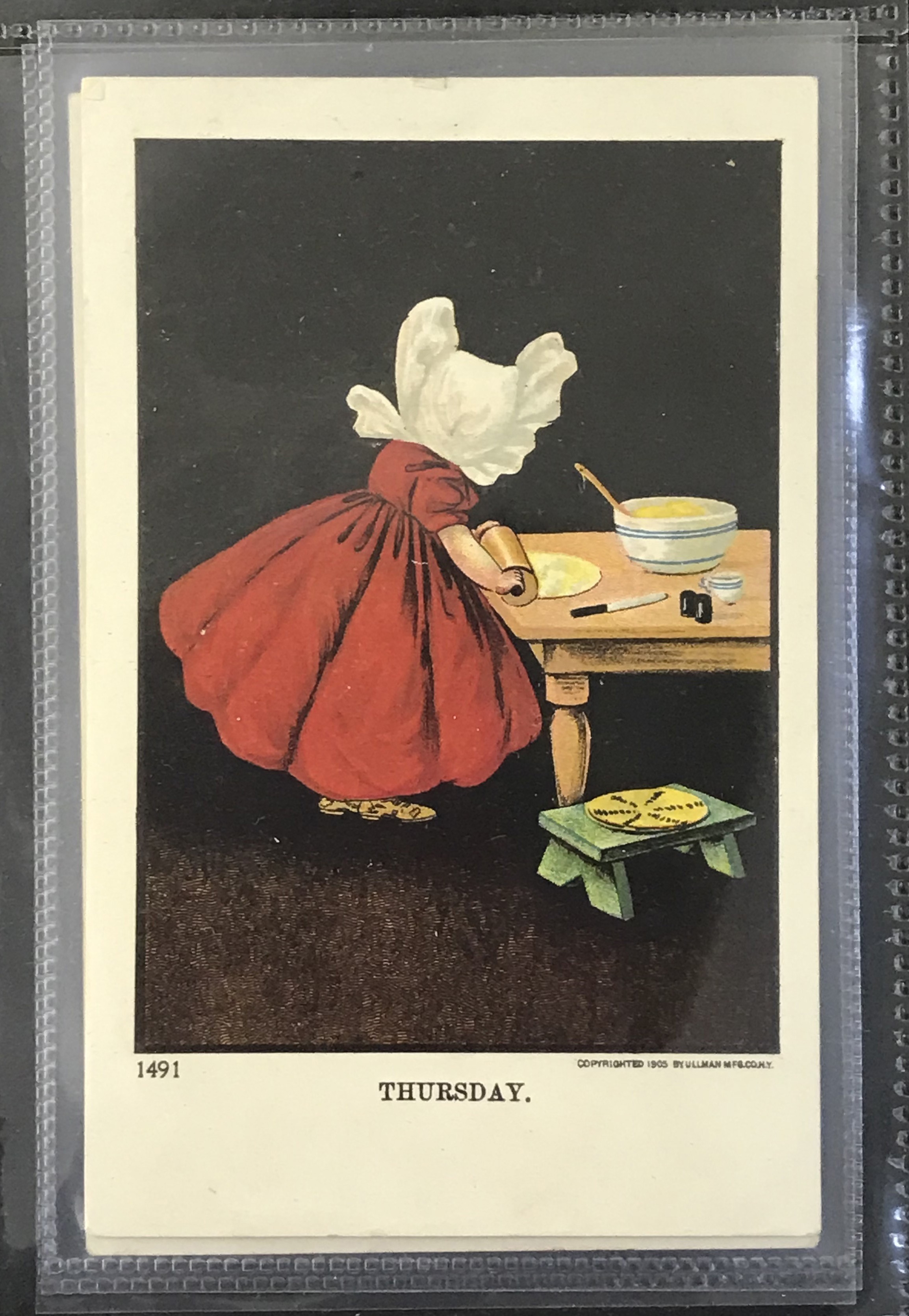 Ullman Manufacturing Co. Postcards - Complete set of Sunbonnet Baby Days - Image 7 of 11