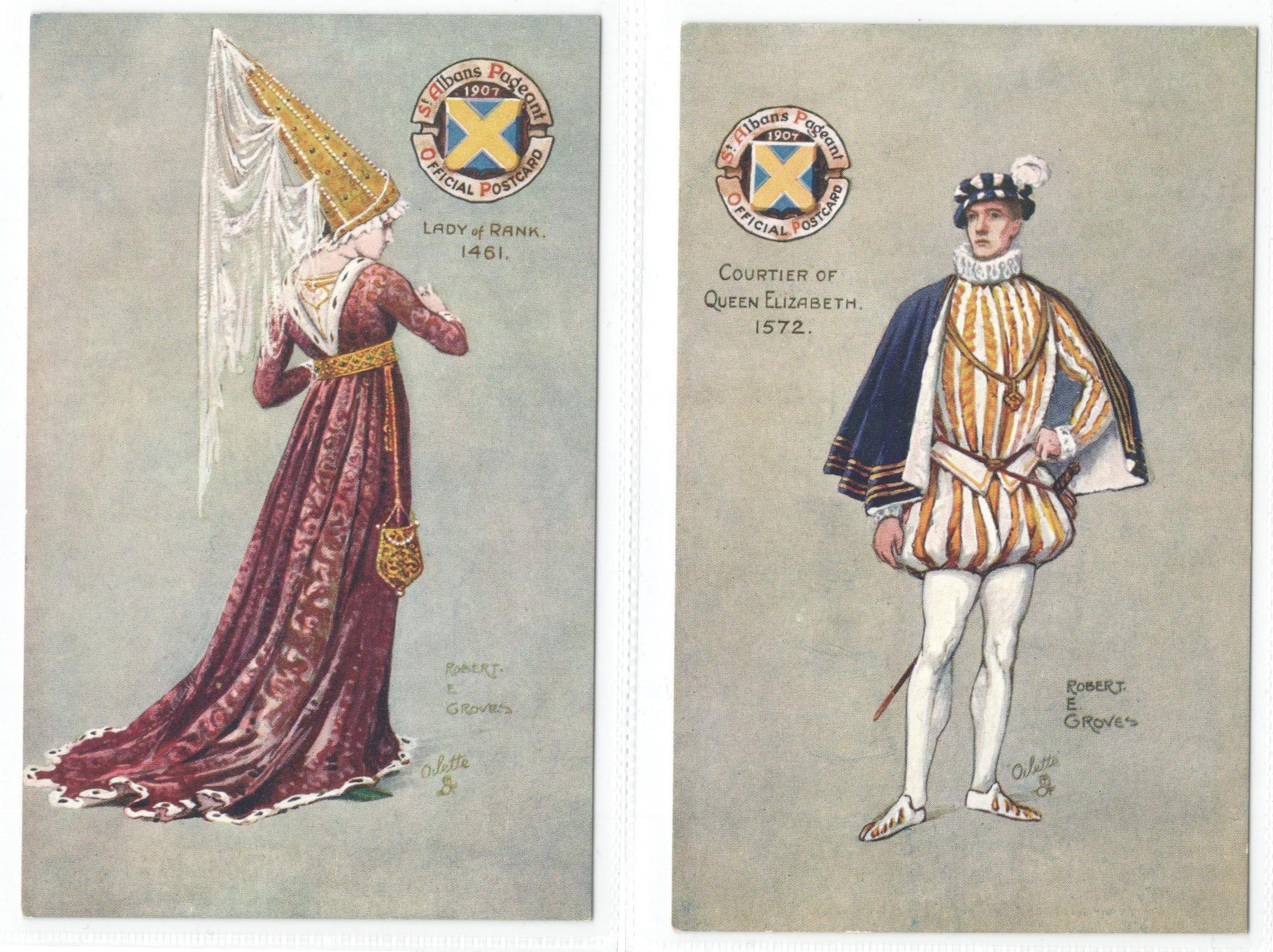 ST ALBANS PAGEANTS SERIES I, II & III - SIX RAPHAEL TUCK POSTCARDS - Image 5 of 6