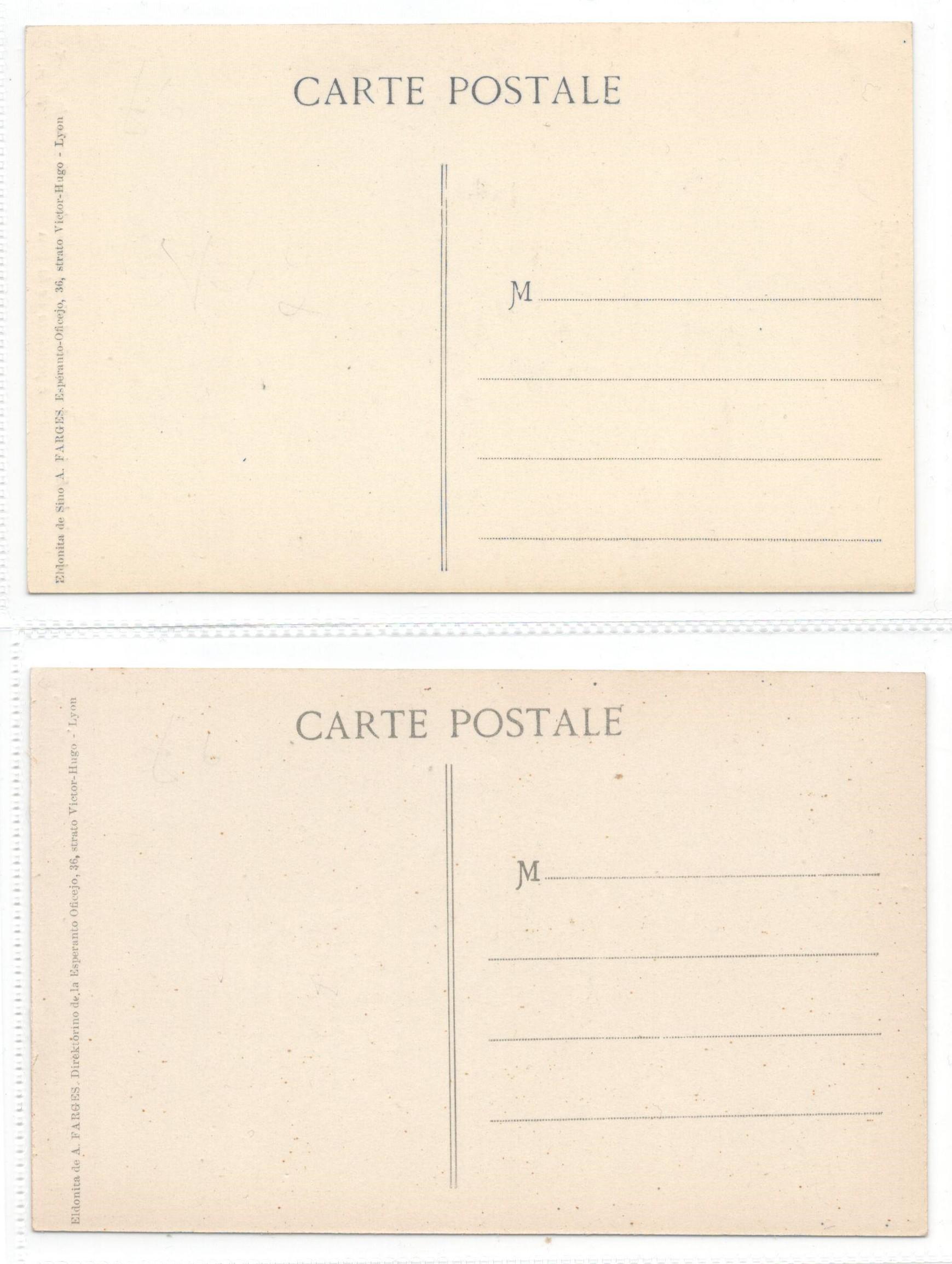 TWO ESPERANTO POSTCARDS - Image 2 of 2