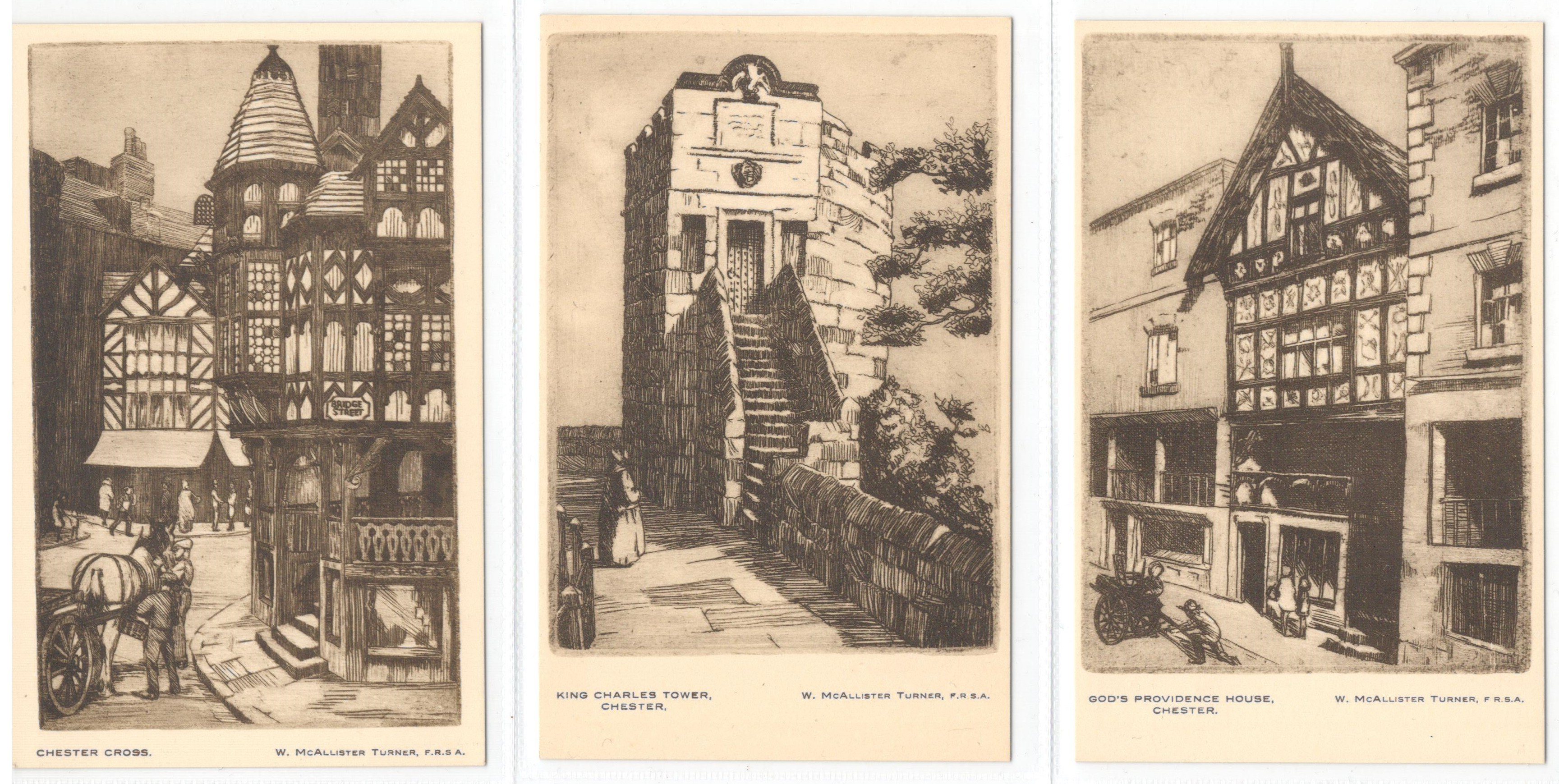 SET OF SIX CHESTER POSTCARDS