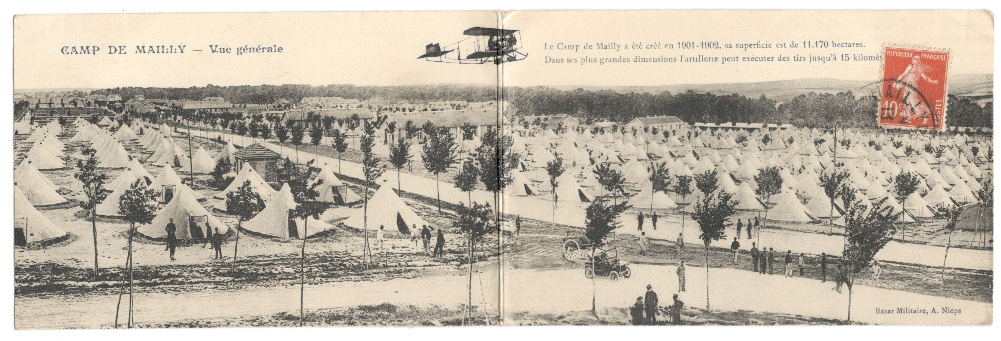 CAMP DE MAILLY - WITH MESSAGE ON THE BACK