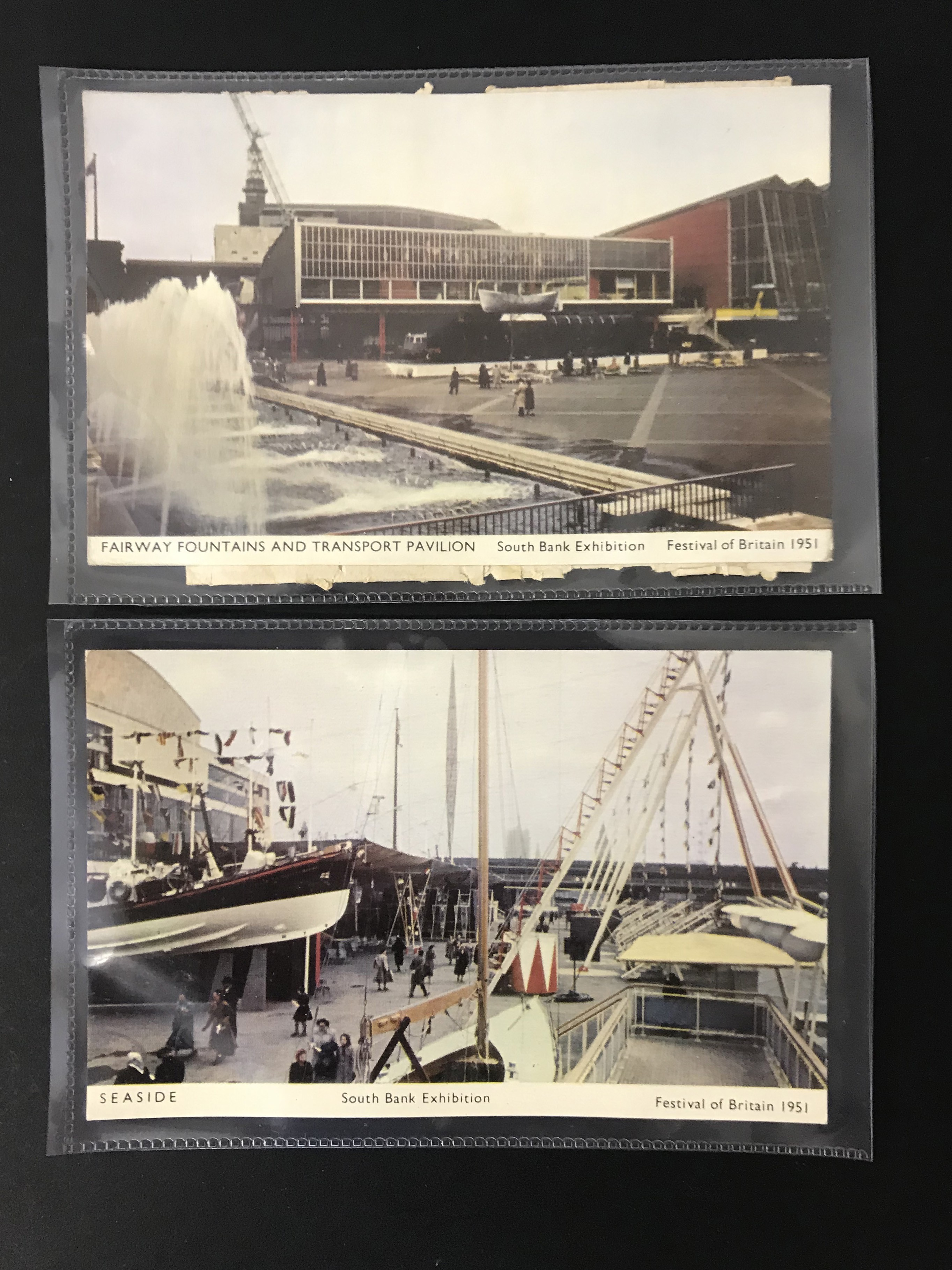 COMPLETE SET OF SIX FESTIVAL OF BRITAIN POSTCARDS - 6 JARROLD POSTCARDS - SOUTH BANK EXHIBITION - Image 2 of 6