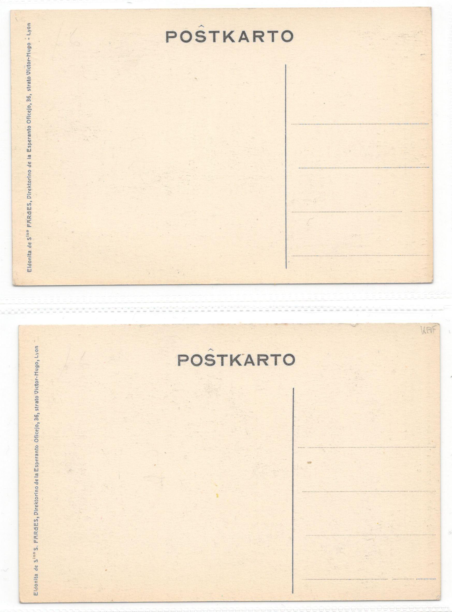 TWO ANTIQUE RUSSIAN ESPERANTO POSTCARDS - Image 2 of 2