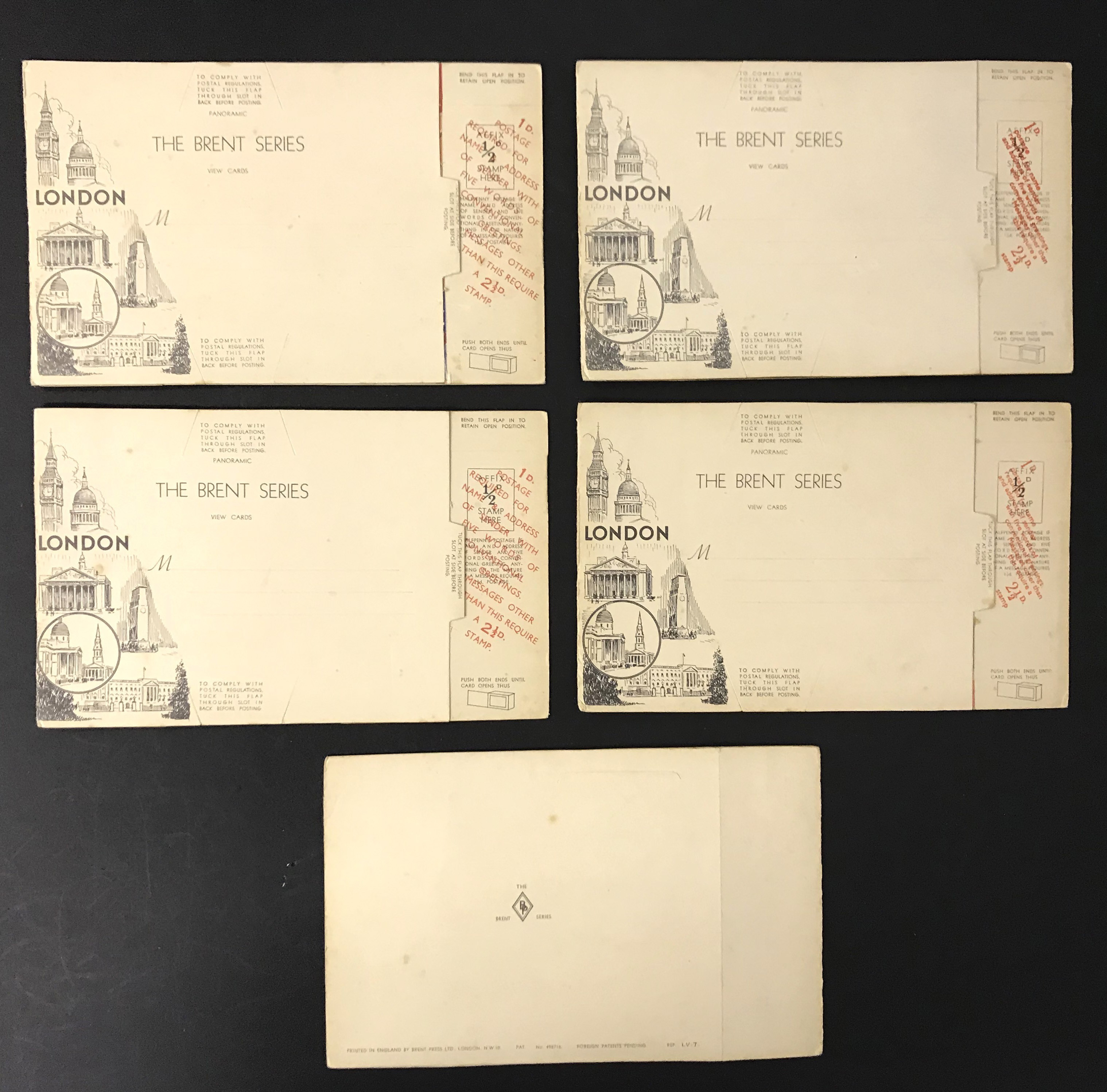 FIVE LONDON POSTCARDS - THE BRENT SERIES OF PANORAMIC VIEW CARDS - Image 12 of 13