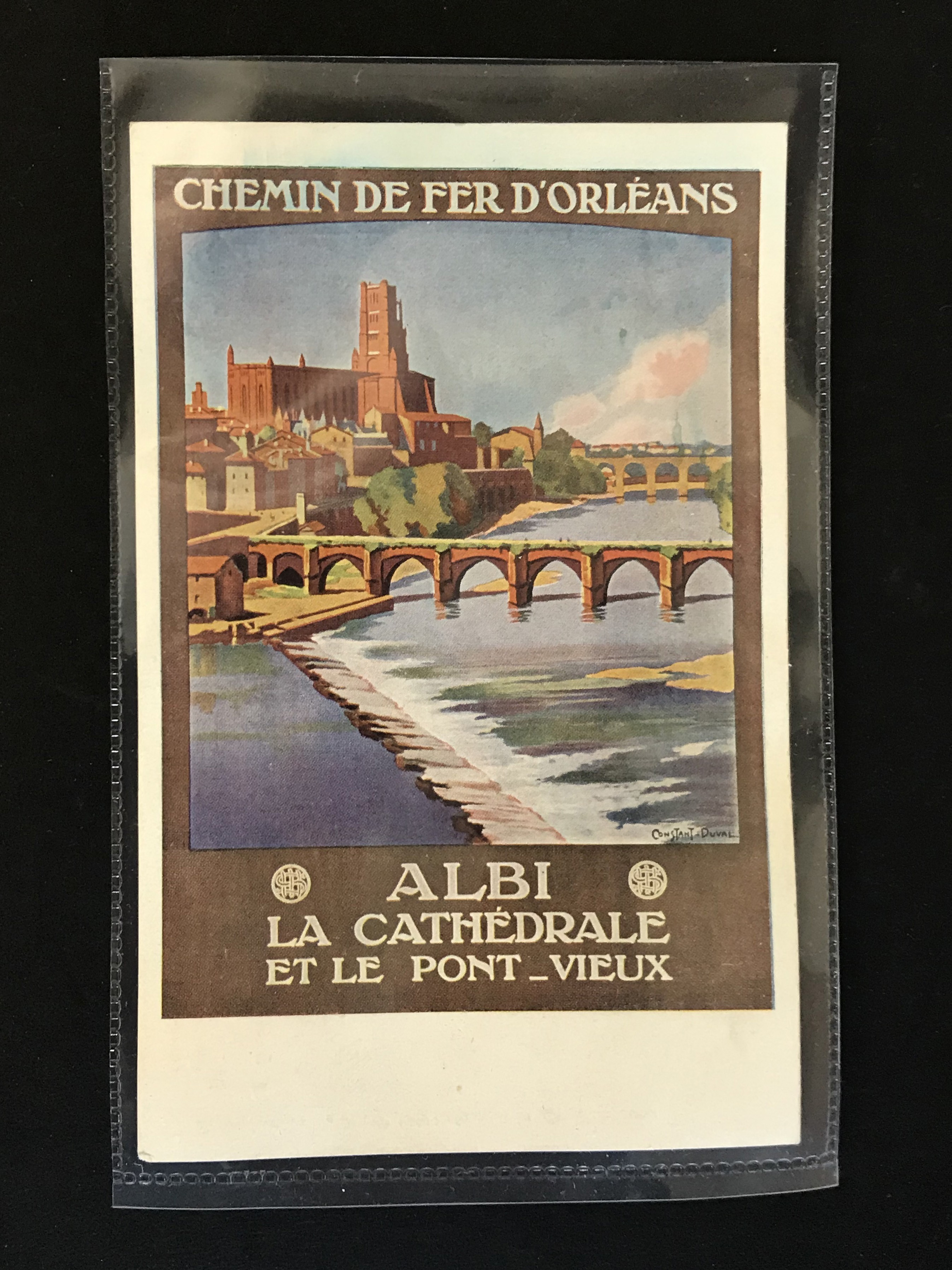 SIX FRENCH OLD POSTCARDS PROMOTING TOURIST DESTINATIONS - Image 5 of 8