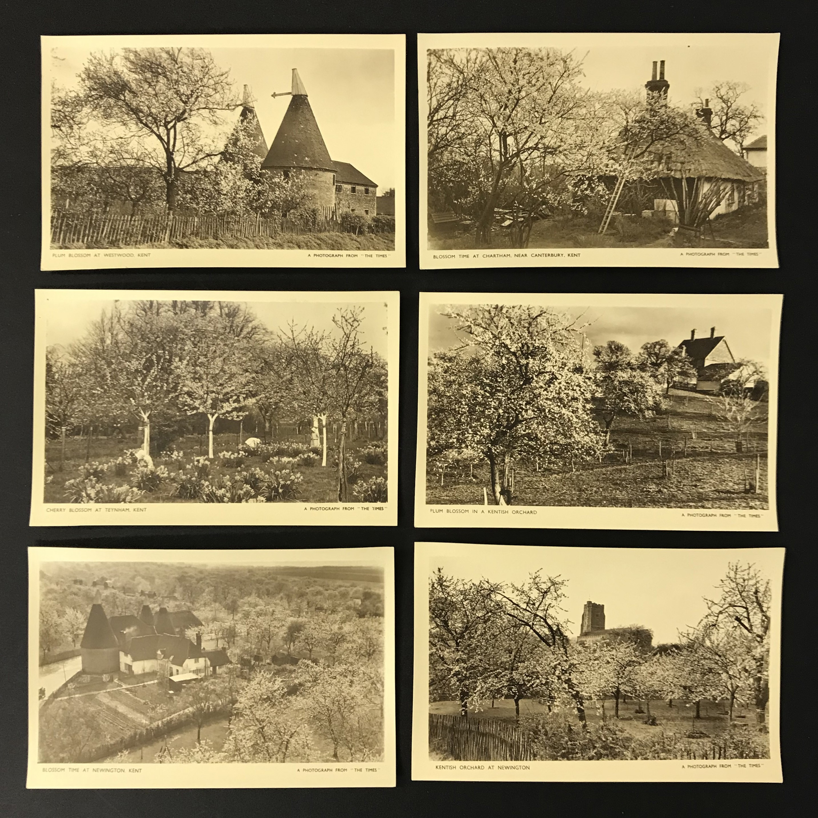 FOUR COMPLETE SETS OF SIX POSTCARDS BY THE TIMES - Image 2 of 5