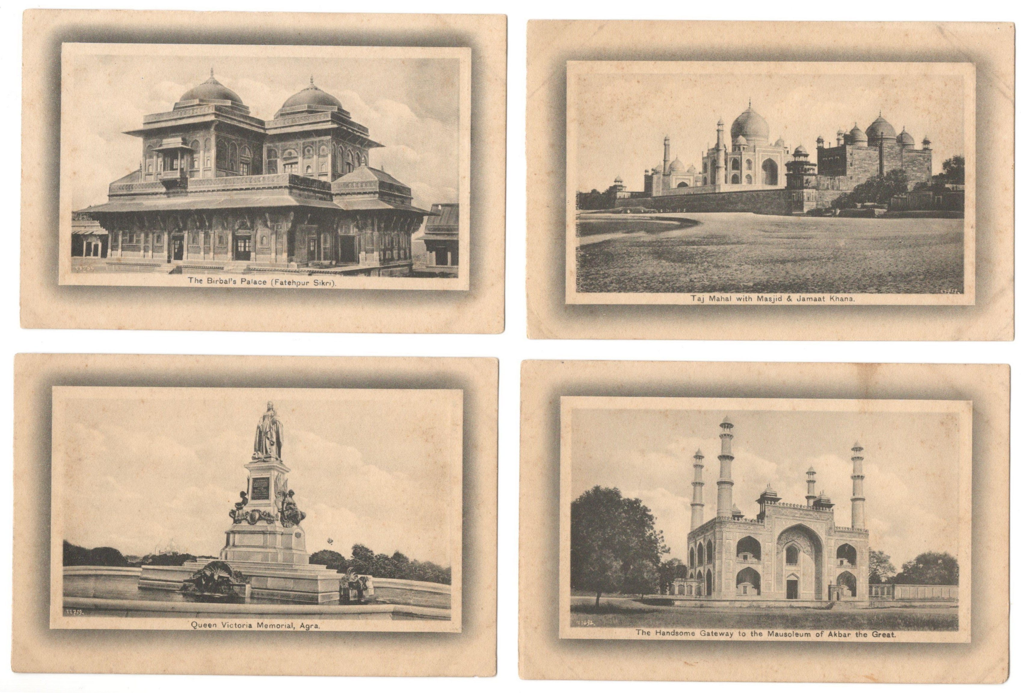 H.A. MIRZA & SONS DELHI - POSTCARDS OF INDIA (20) PRINTED IN SAXONY