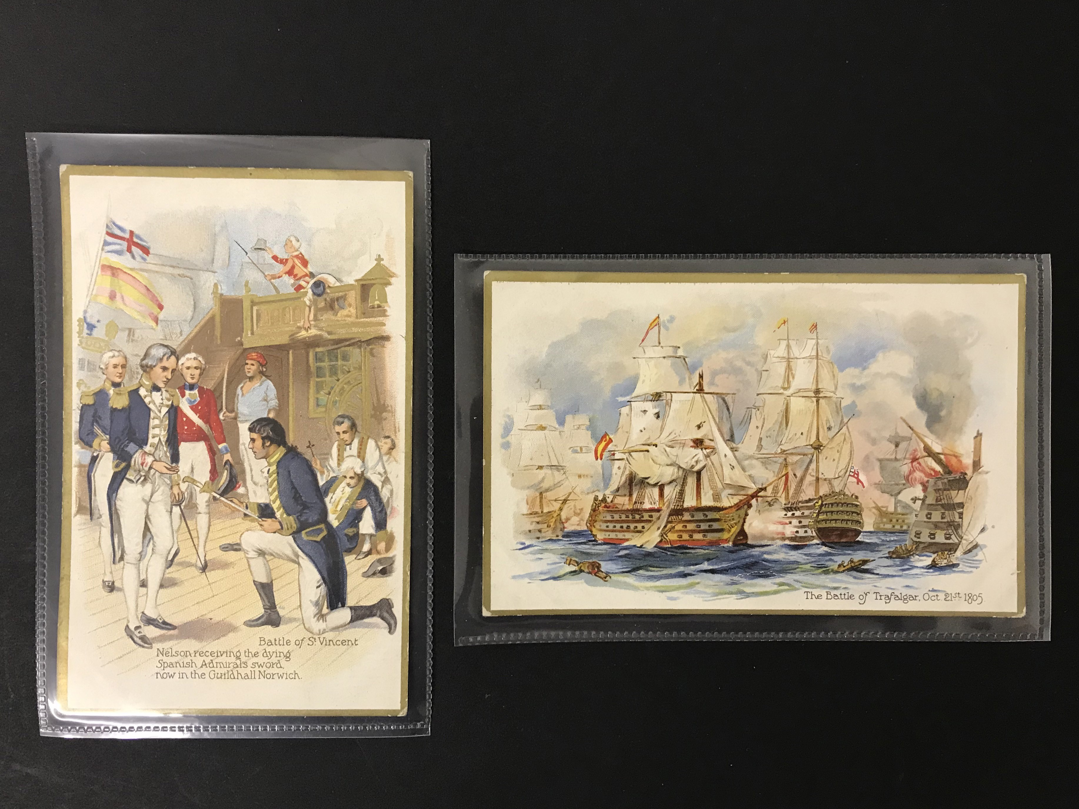 SET OF EIGHT OLD UNUSED POSTCARDS - LORD NELSON - Image 5 of 6
