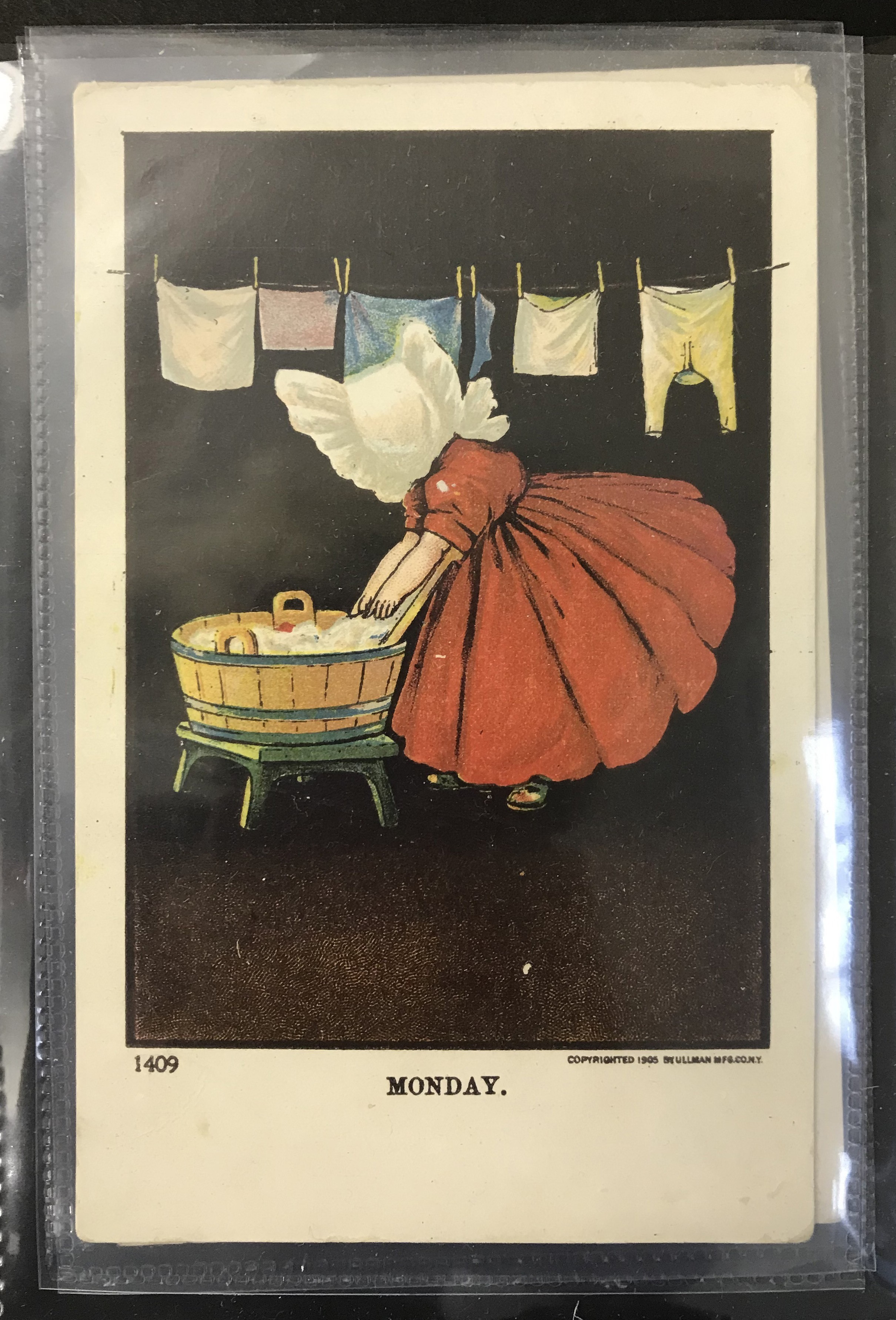 Ullman Manufacturing Co. Postcards - Complete set of Sunbonnet Baby Days - Image 4 of 11