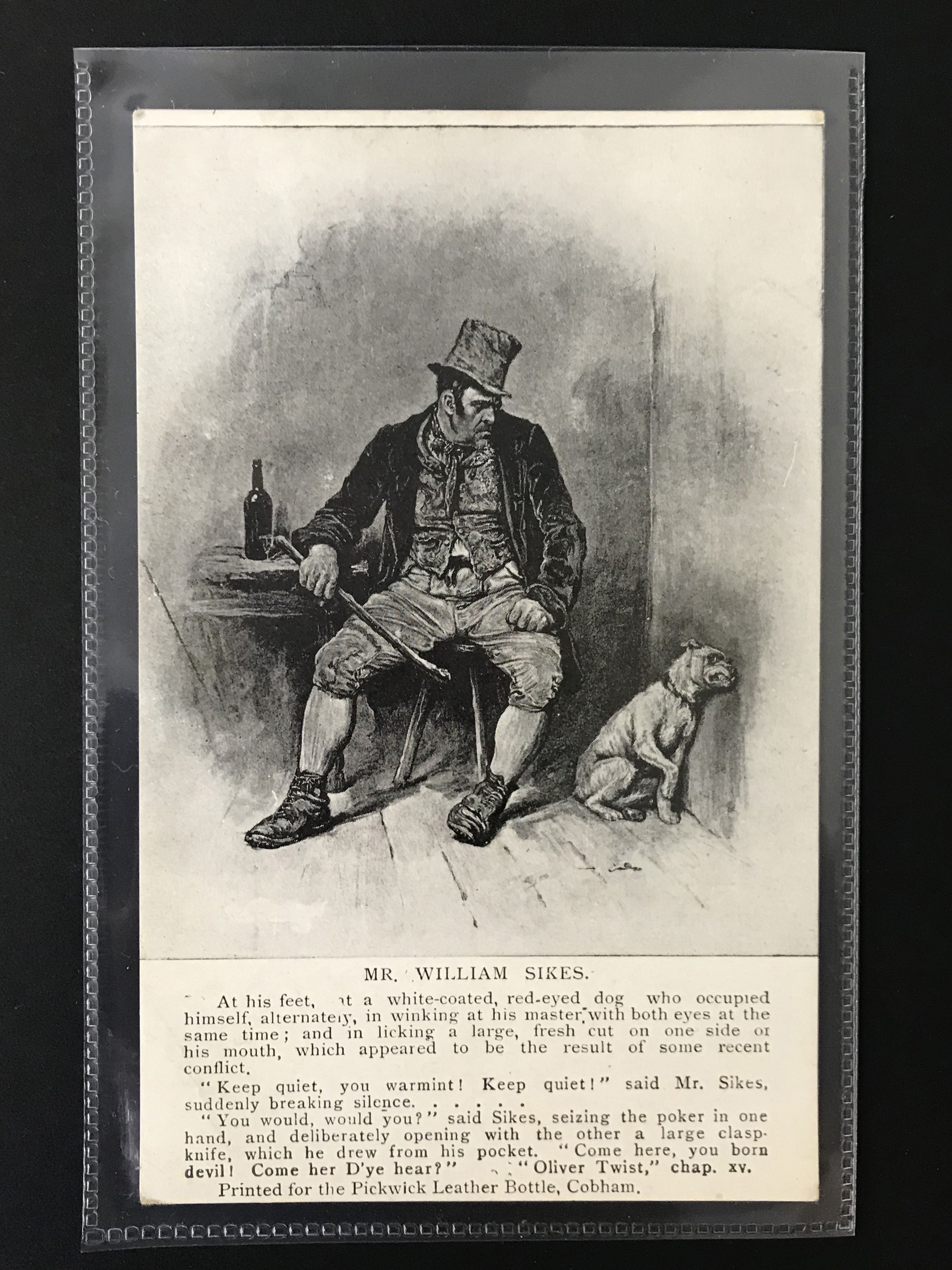 GROUP OF SEVEN DICKENS RELATED POSTCARDSPRINTED FOR THE PICKWICK LEATHER BOTTLE COMPANY - Image 5 of 6