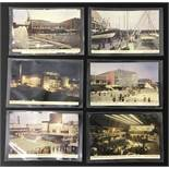 COMPLETE SET OF SIX FESTIVAL OF BRITAIN POSTCARDS - 6 JARROLD POSTCARDS - SOUTH BANK EXHIBITION