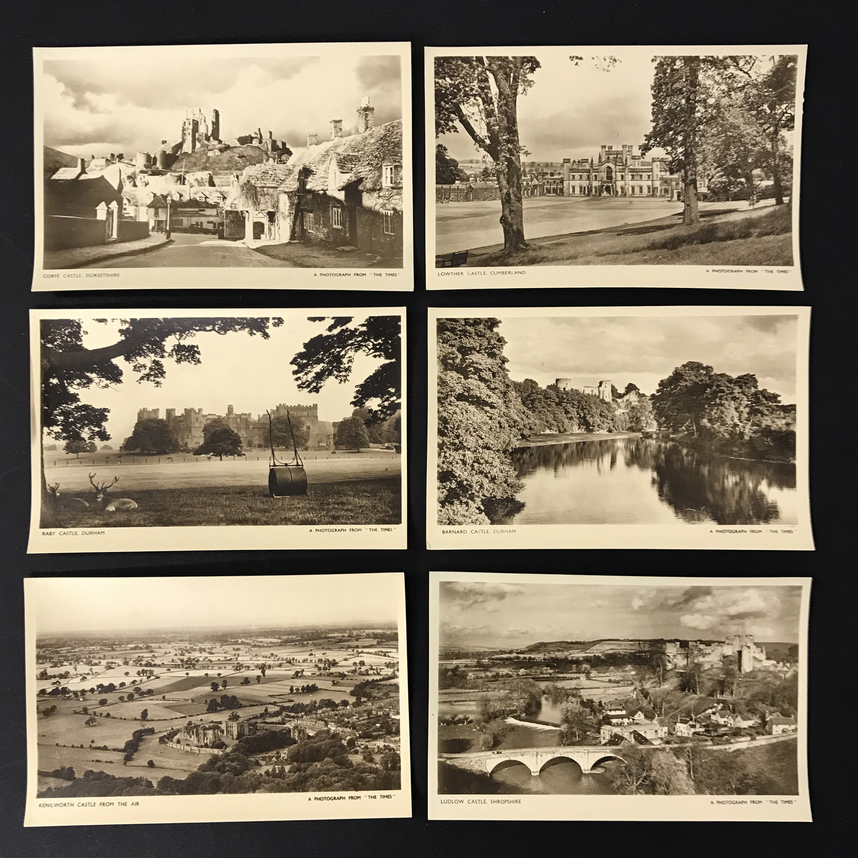 FOUR COMPLETE SETS OF SIX POSTCARDS BY THE TIMES - Image 3 of 5