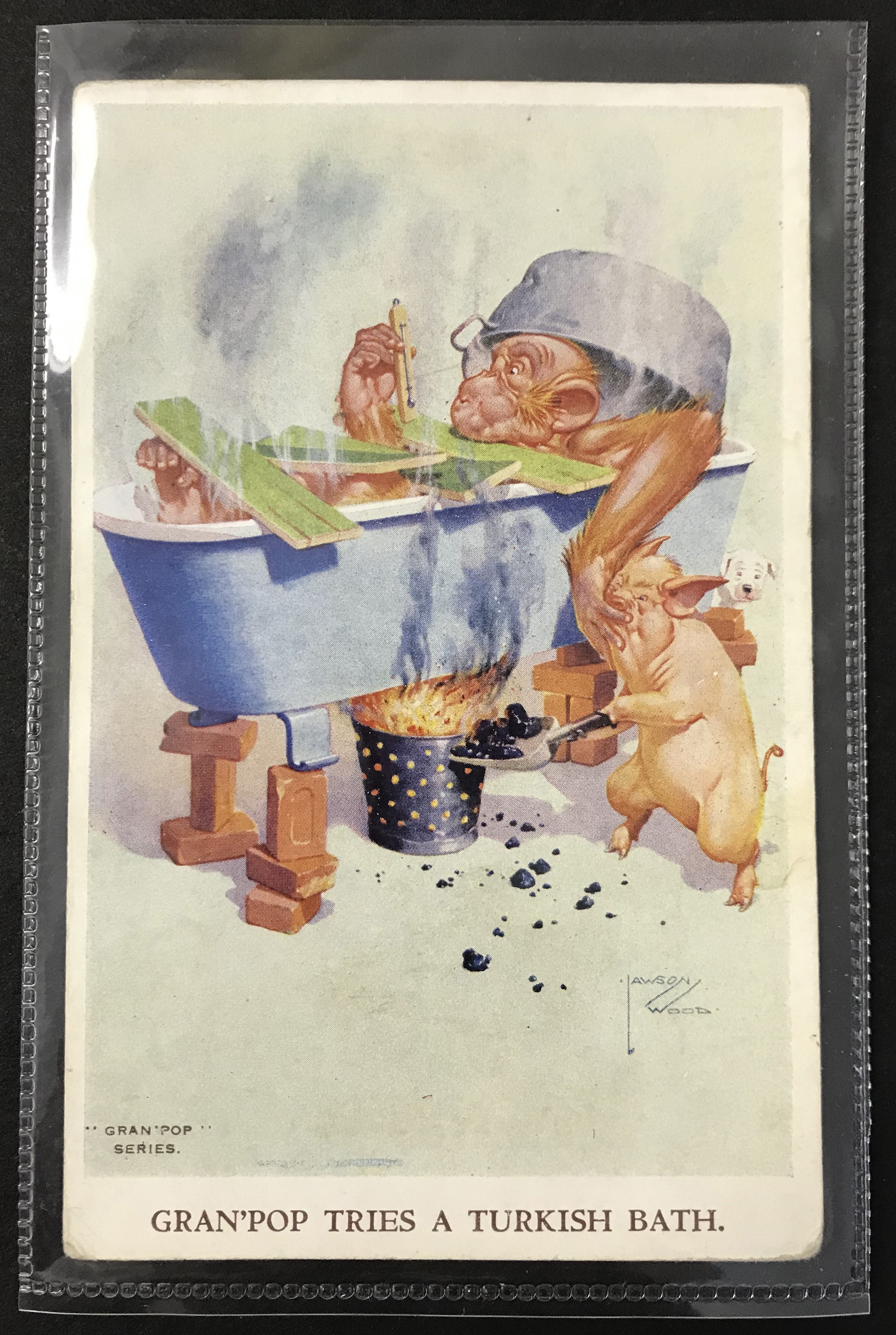 SMALL GROUP OF LAWSON WOOD POSTCARDS FROM GRAN POP SERIES - Image 3 of 11