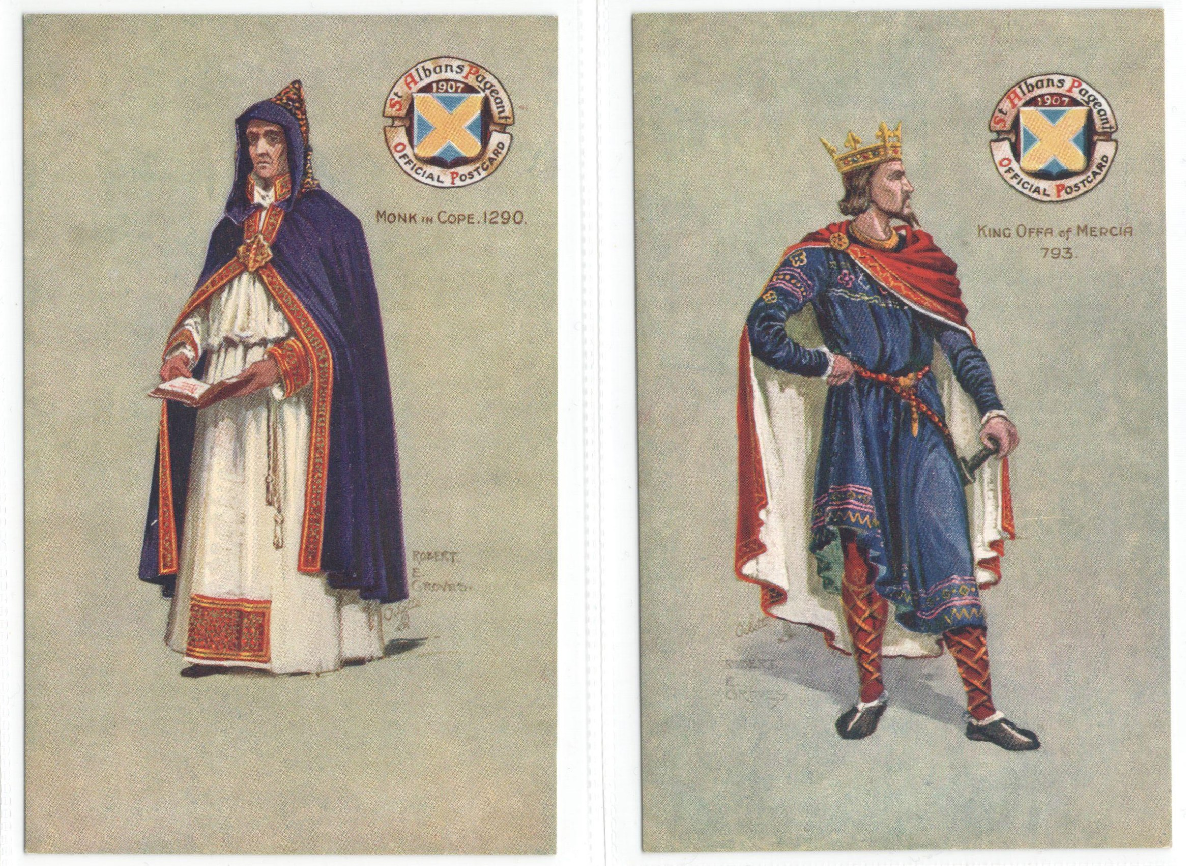 ST ALBANS PAGEANTS SERIES I, II & III - SIX RAPHAEL TUCK POSTCARDS - Image 3 of 6