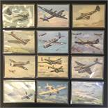 GROUP OF TWELVE FRENCH PLANES RELATED POSTCARDS - VARIOUS SERIES