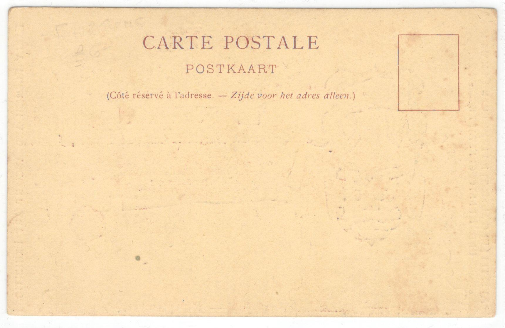 1902 EARLY FLEMISH AND ANCIENT ART EXHIBITION POSTCARD - Image 2 of 2
