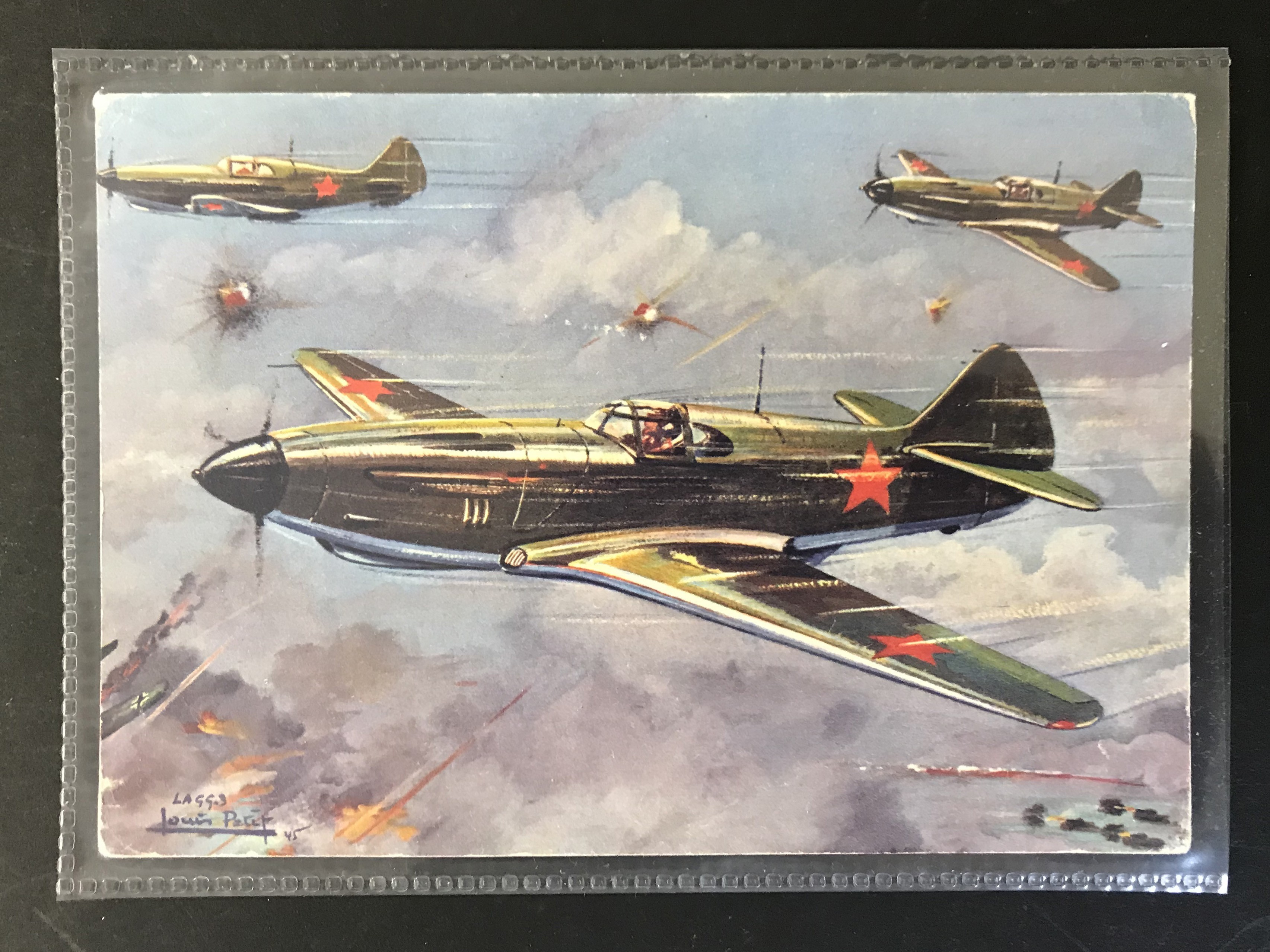GROUP OF TWELVE FRENCH PLANES RELATED POSTCARDS - VARIOUS SERIES - Image 10 of 14