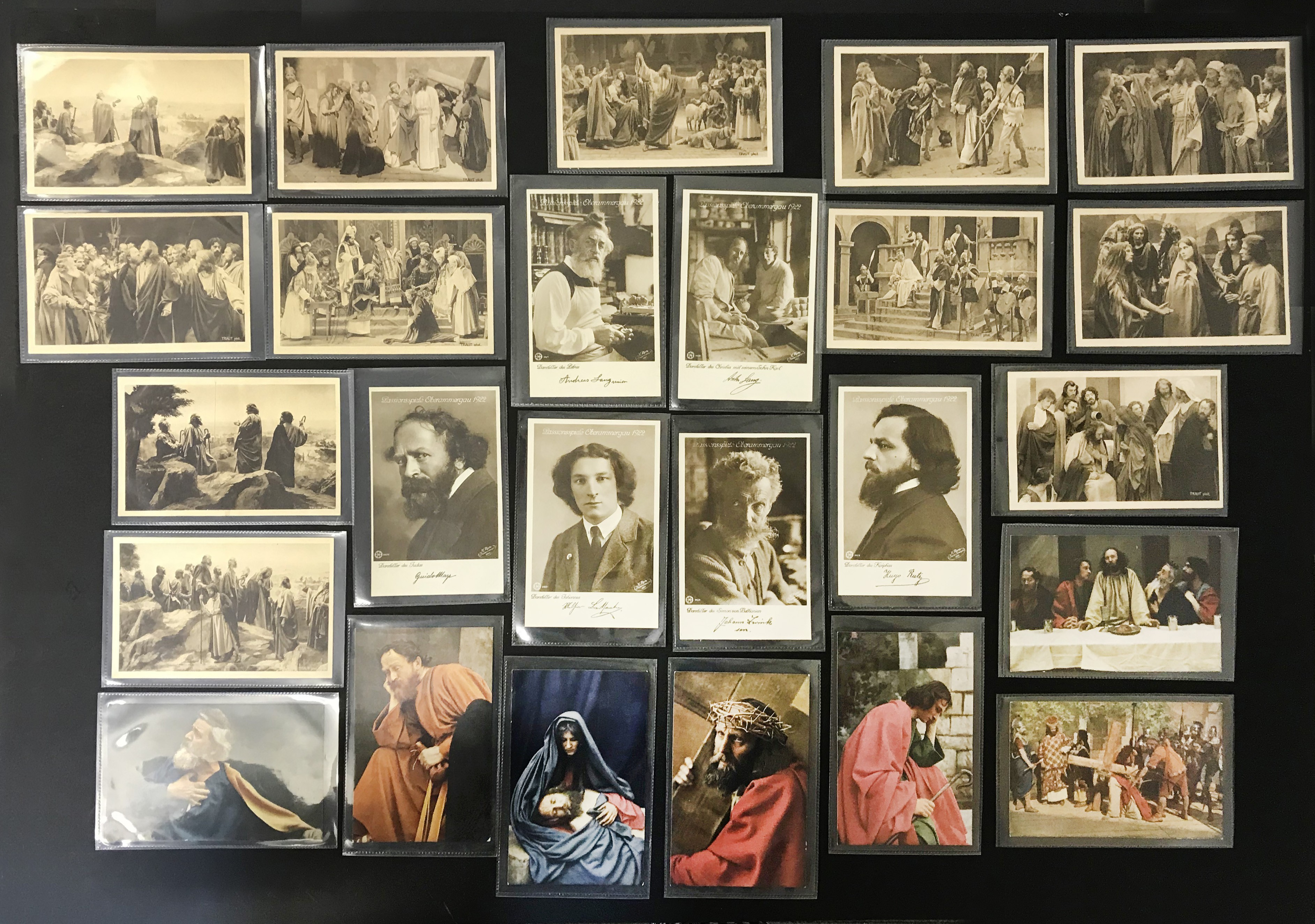 SELECTION OF VARIOUS POSTCARDS SHOWING ACTORS