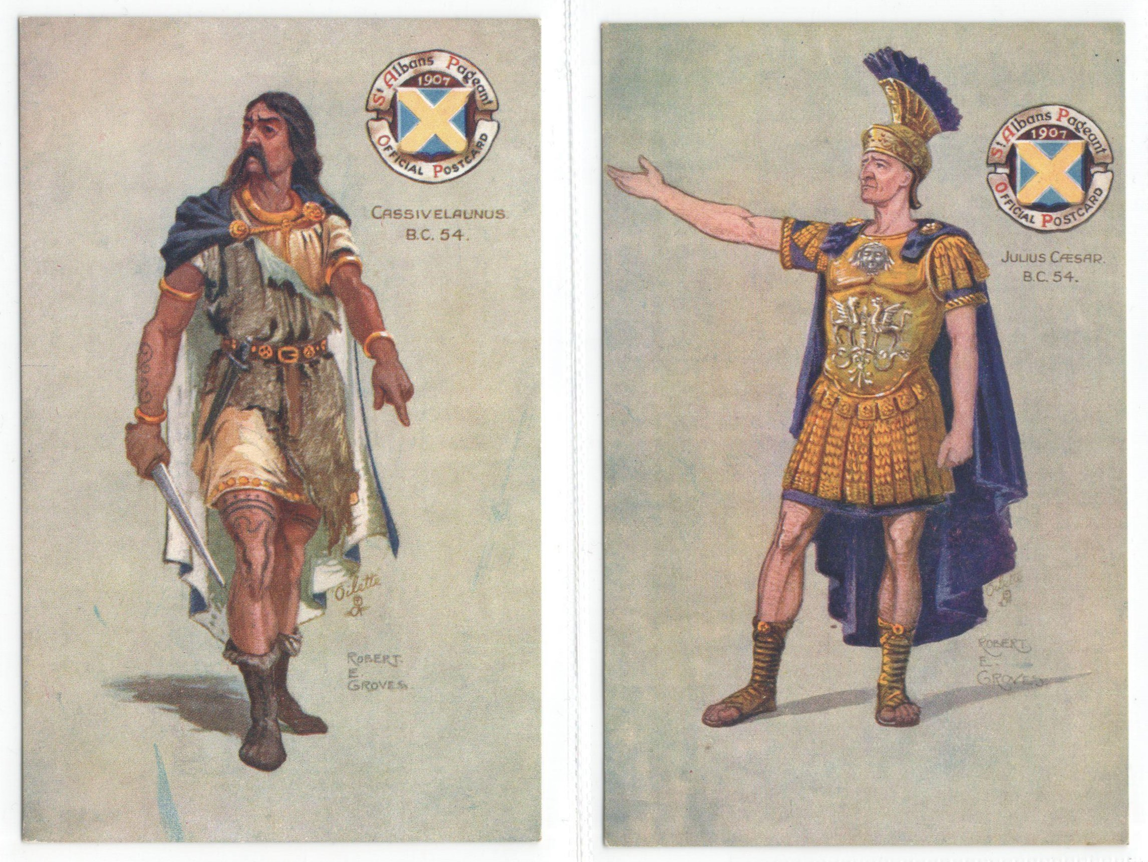 ST ALBANS PAGEANTS SERIES I, II & III - SIX RAPHAEL TUCK POSTCARDS