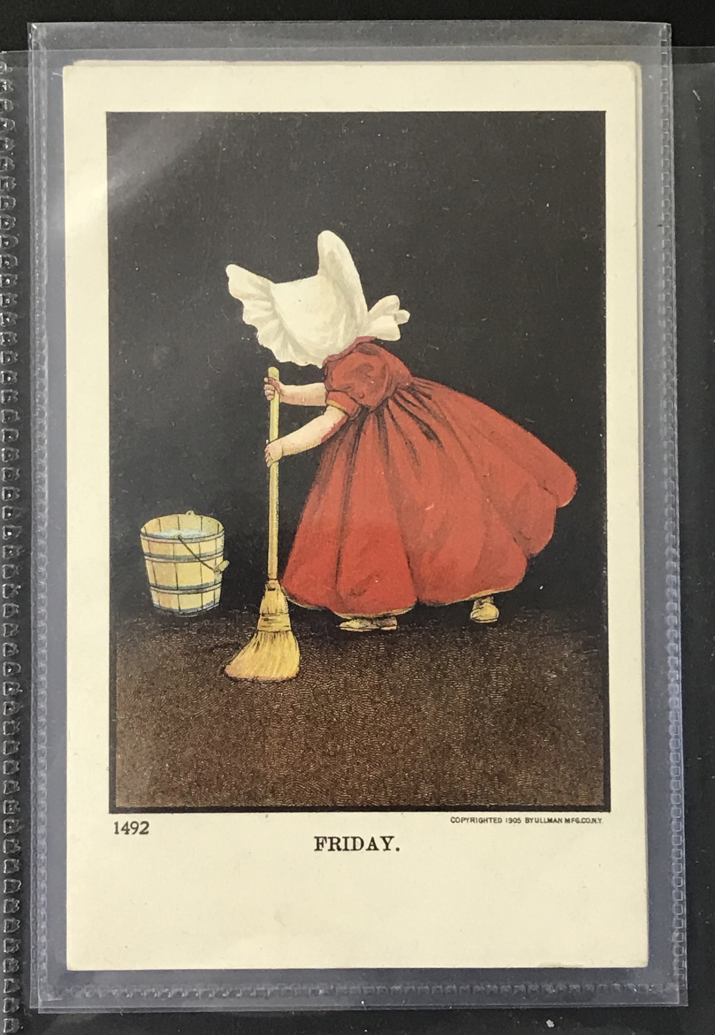 Ullman Manufacturing Co. Postcards - Complete set of Sunbonnet Baby Days - Image 8 of 11