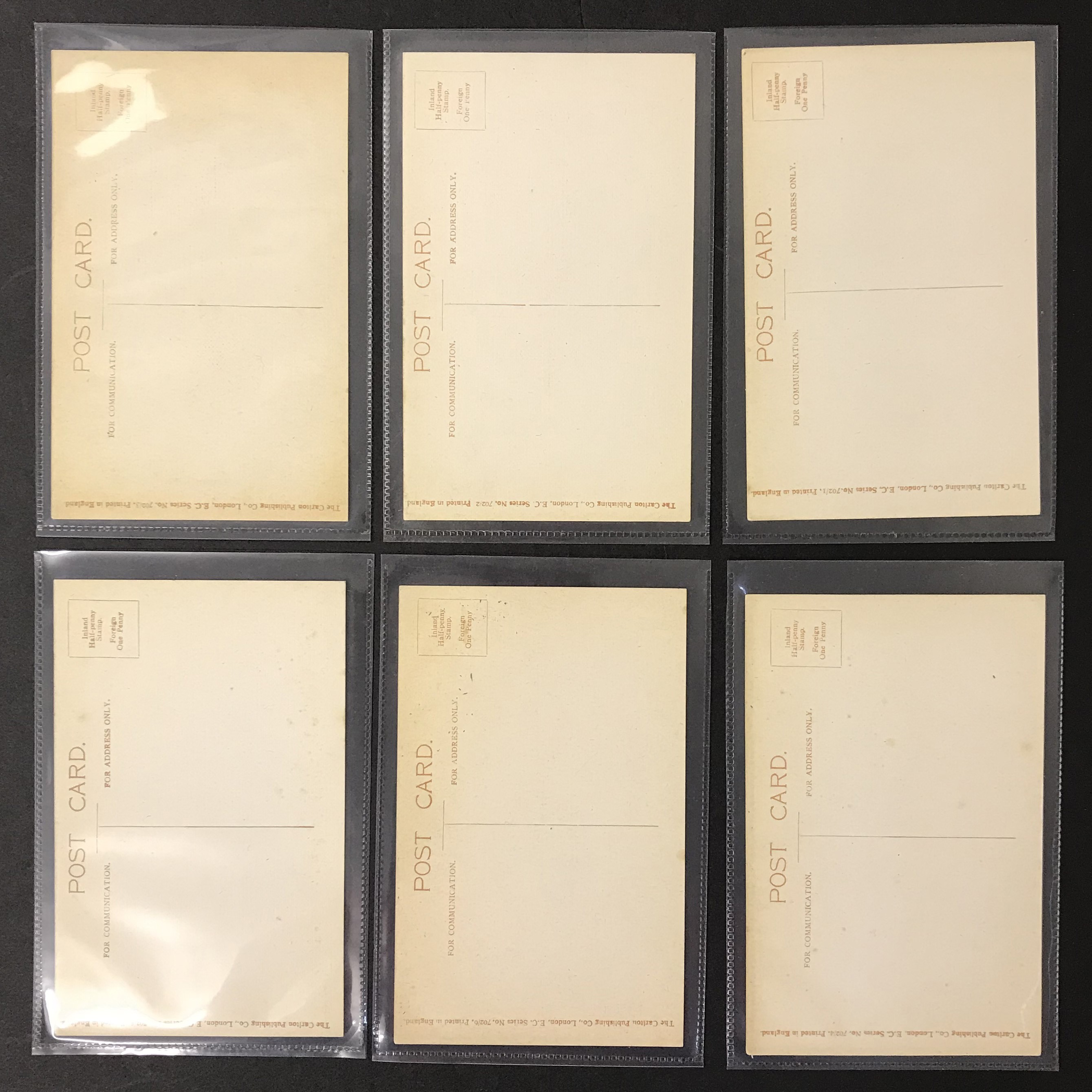 POSTCARDS - SET OF SIX GLAMOUR POSTCARDS - Image 2 of 8