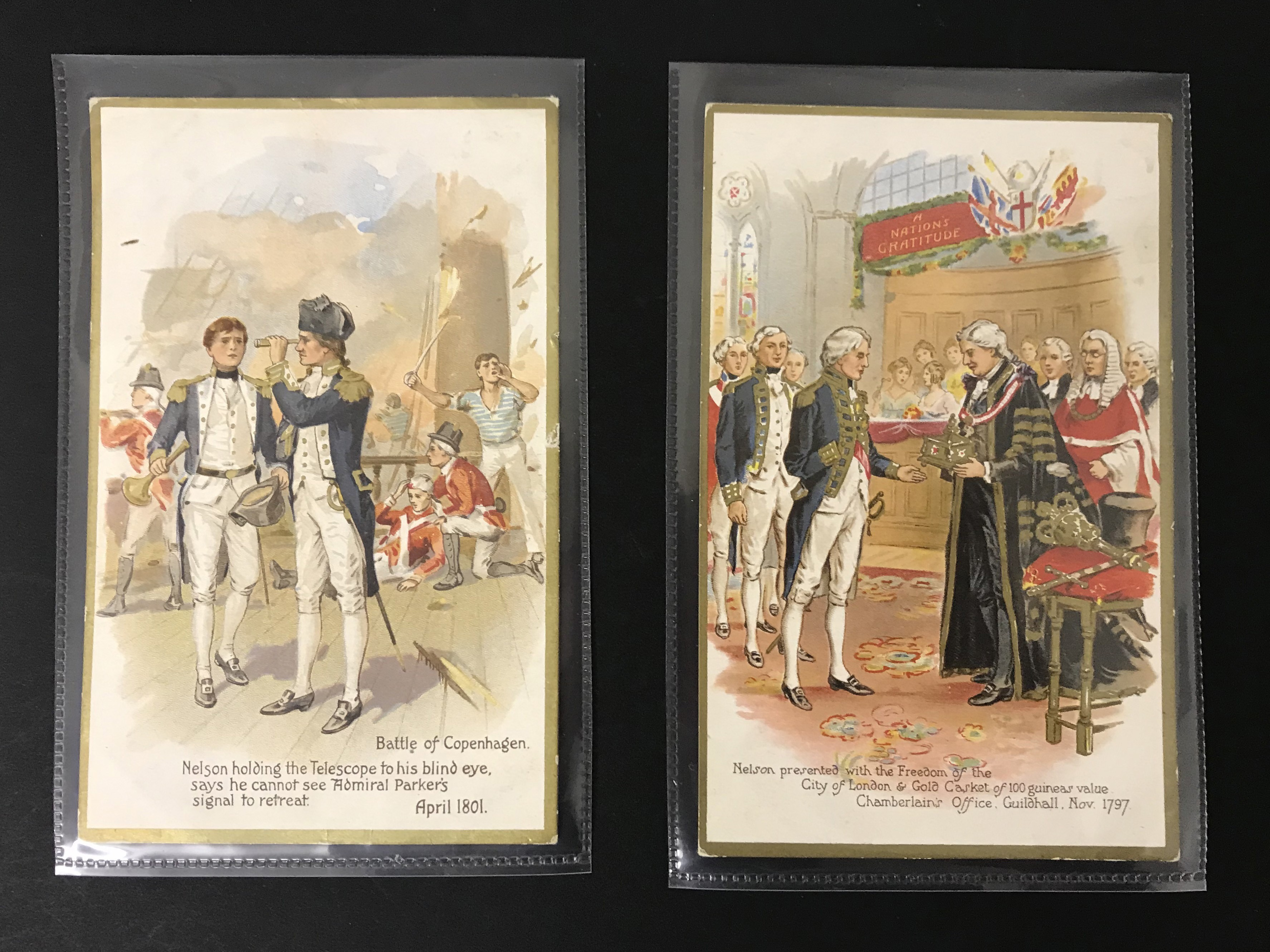 SET OF EIGHT OLD UNUSED POSTCARDS - LORD NELSON - Image 2 of 6