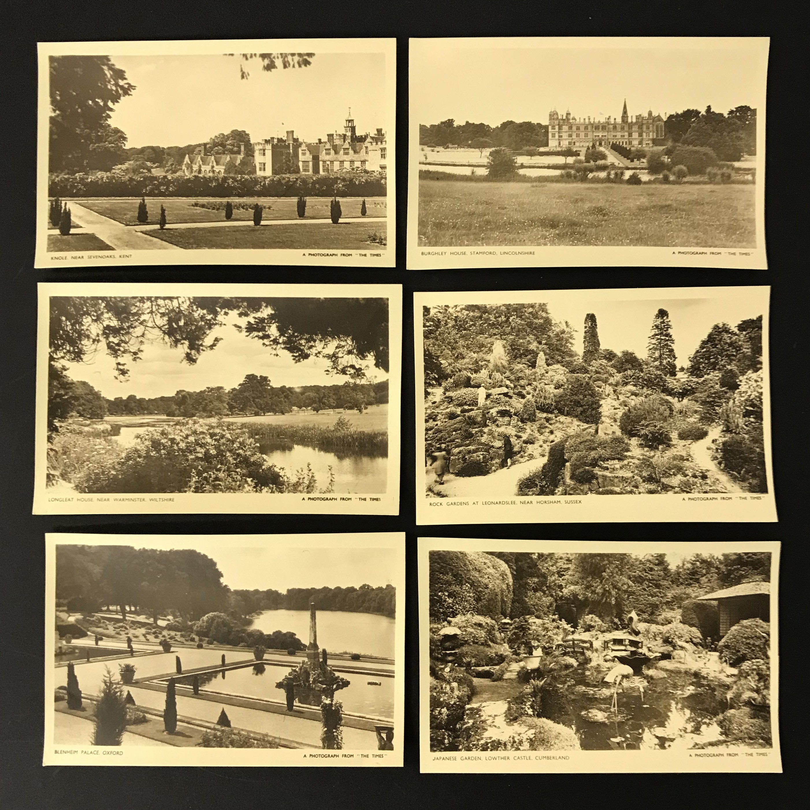 FOUR COMPLETE SETS OF SIX POSTCARDS BY THE TIMES - Image 4 of 5