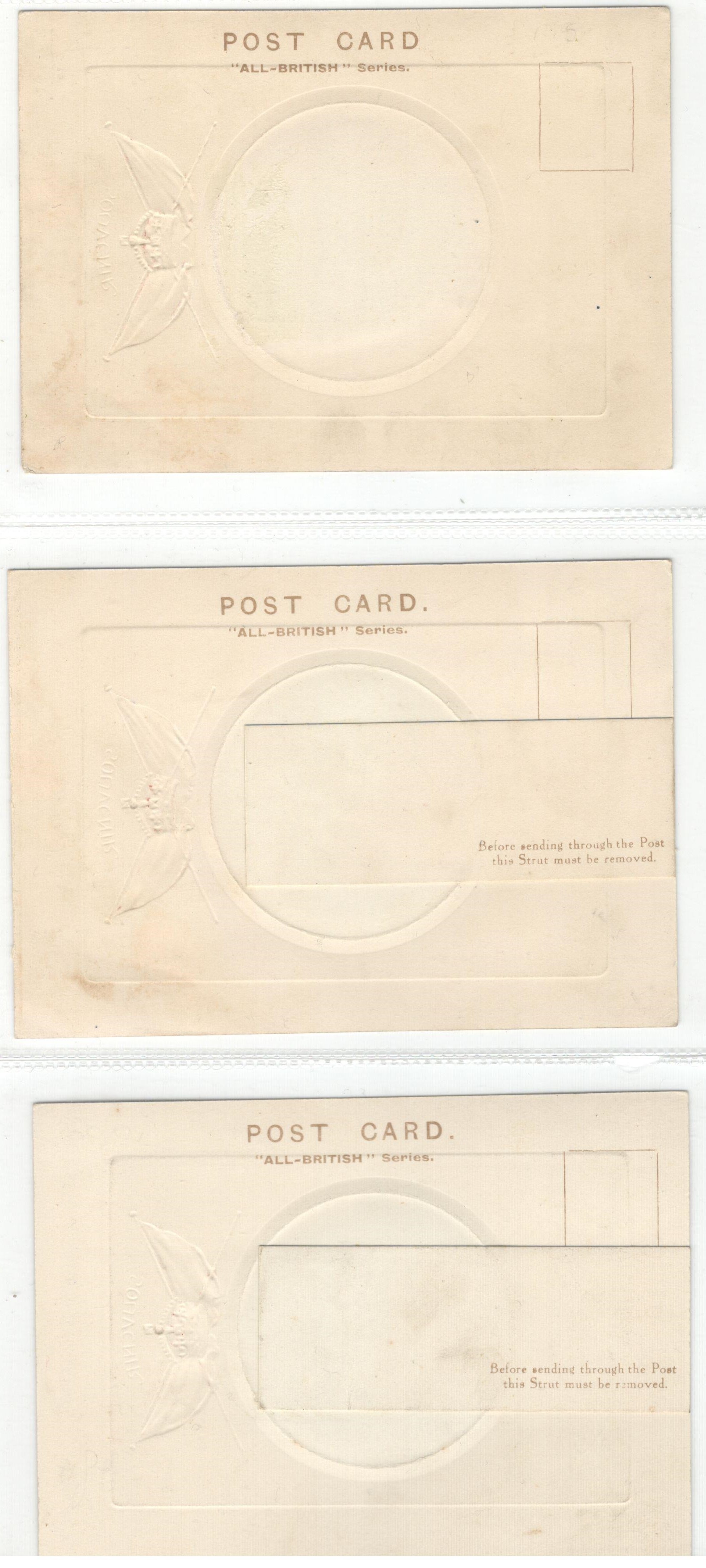 THREE SOUVENIR SMALL SIZE POSTCARDS HIS MAJESTY KING GEORGE V & QUEEN MARY - Image 2 of 2