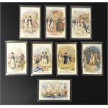 SET OF EIGHT OLD UNUSED POSTCARDS - LORD NELSON