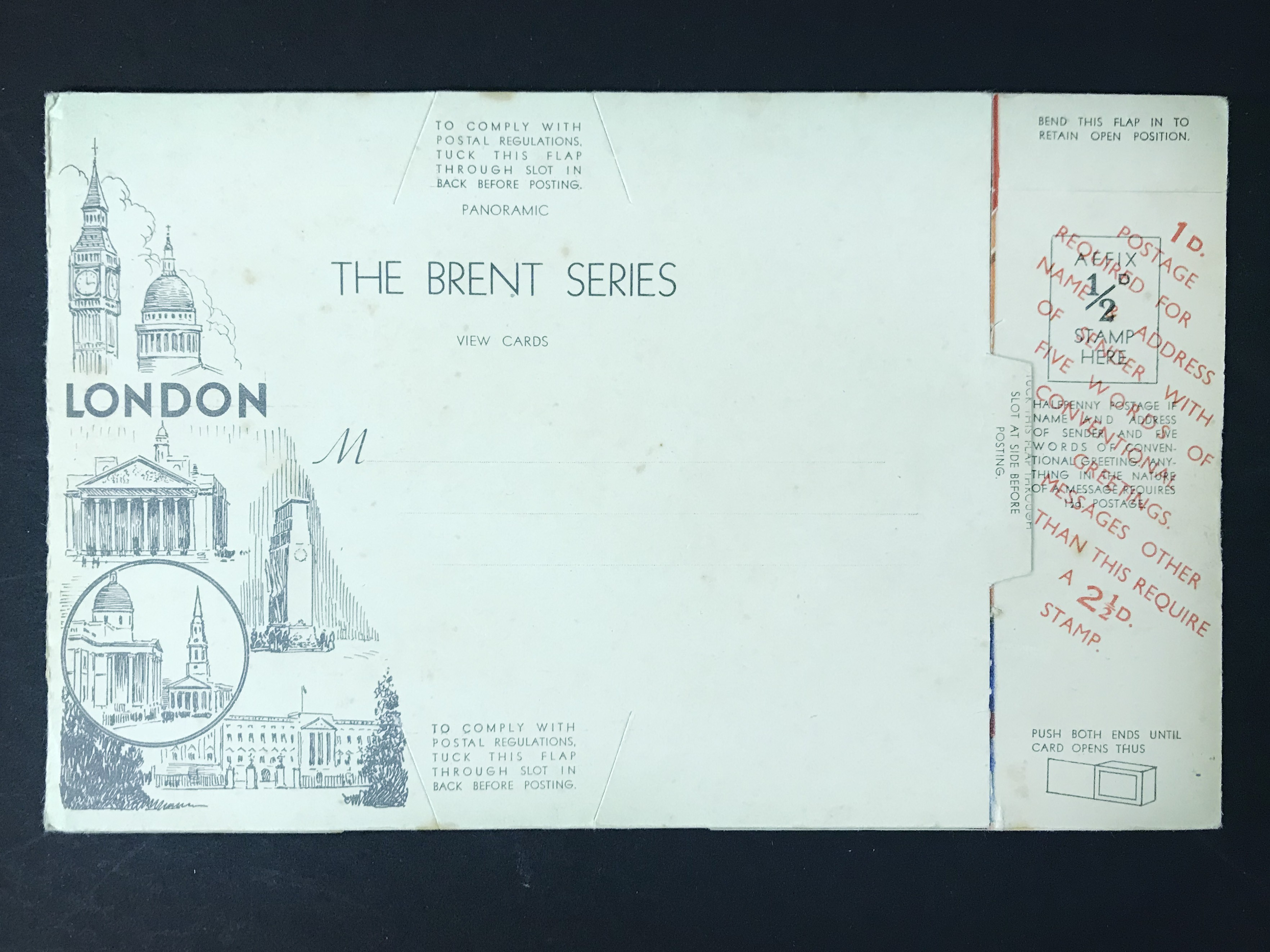 FIVE LONDON POSTCARDS - THE BRENT SERIES OF PANORAMIC VIEW CARDS - Image 13 of 13