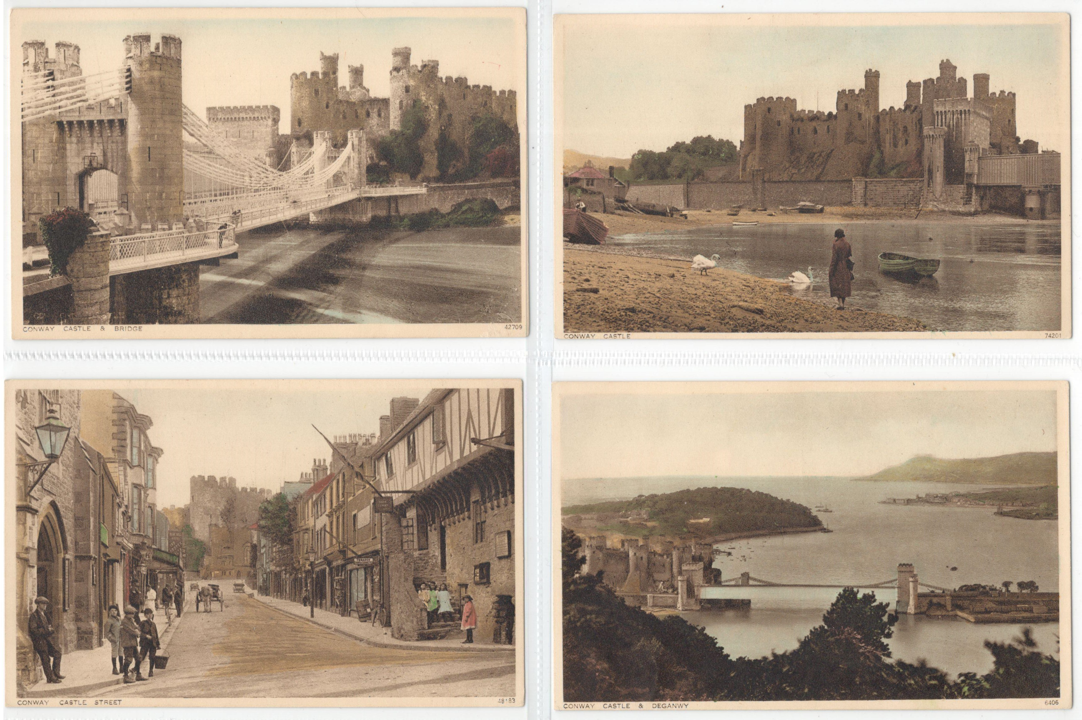 SET OF TEN POSTCARDS CONWAY - Image 2 of 4