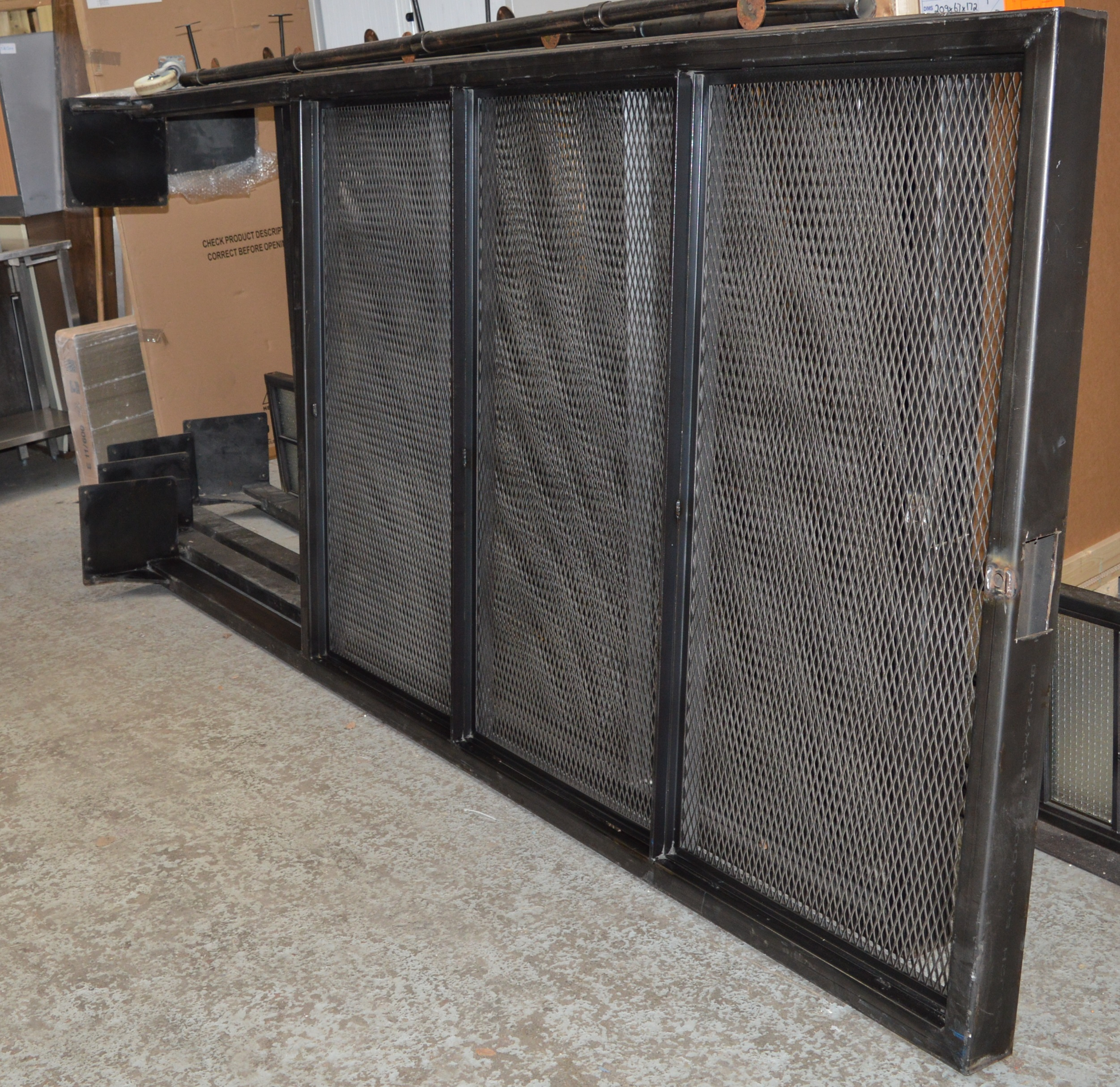 4 x bespoke industrial style upright room dividers with for Industrial room dividers