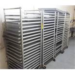 "Aluminum Freezer Carts, 27""x 27"" x 69"" w/24.5"" X 29"" stainless steel mesh screens(All Funds Must"