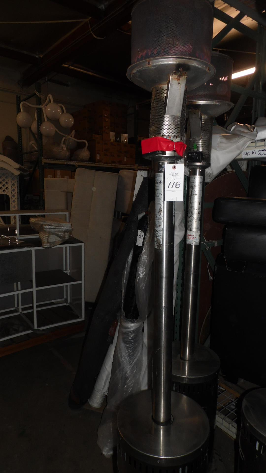 Lot 118 - INFA RED OUTDOOR HEATERS w/ TOP