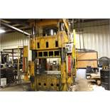 "Elms hydraulic press, 600 T., 75 hp, 44 x 66"" bed, 6' pit, safety curtain."