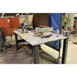 """Steel welding work bench, 4' x 8' x 40""""."""