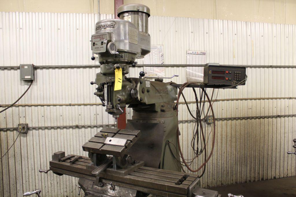 Bridgeport vertical mill Series II, model 12-BR, sn 19162, 2 hp, power feed, Sargon digital