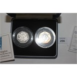 Lot 256 - PIEDFORT COINAGE. Cased Piedfort Proof Coinage including 50p pieces x 2 (1998 ECC & 1998 NHS). A