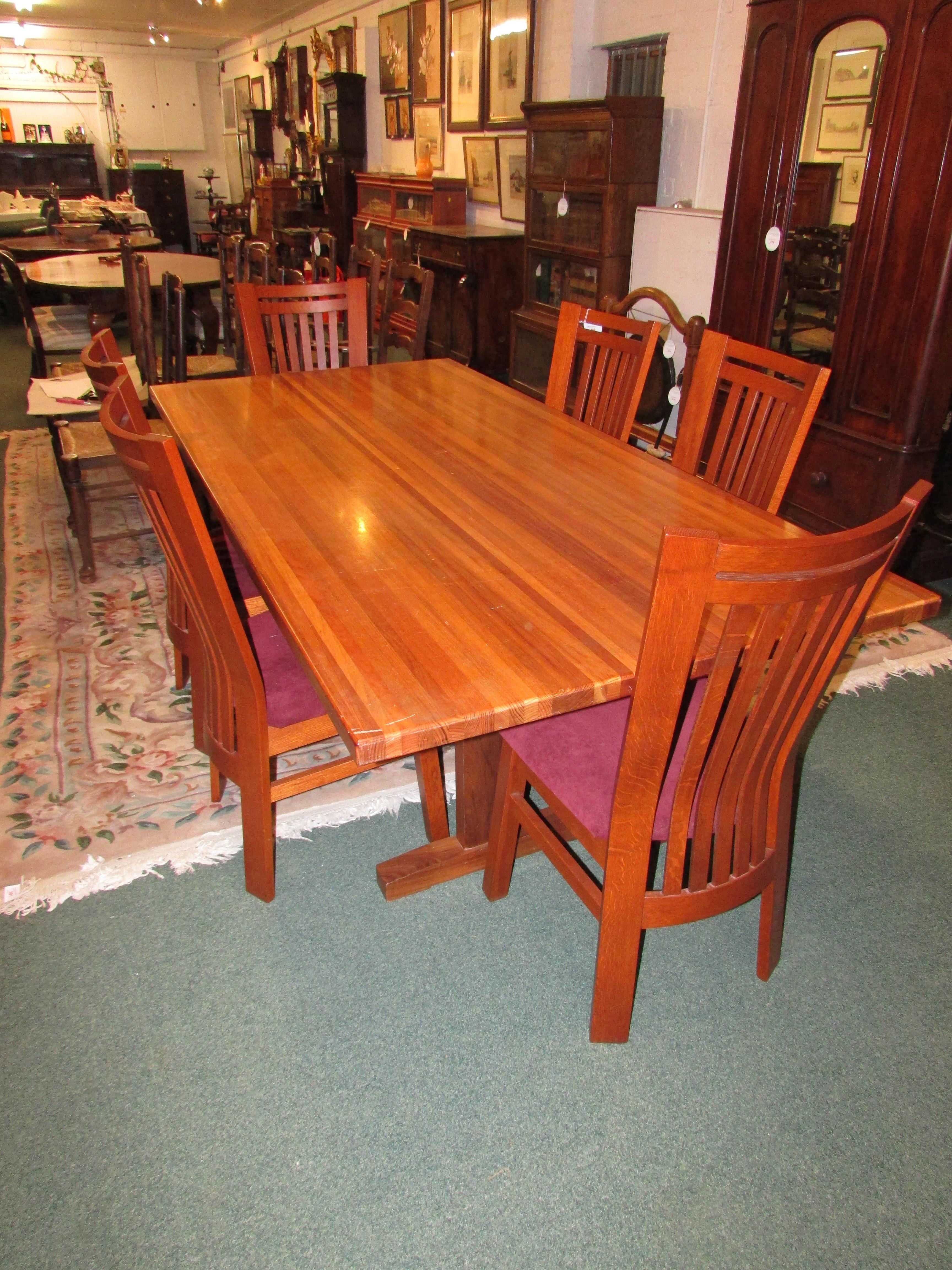 black wood rectangular dining table. Lot 408 - Pipers Truline Pty Ltd Of Tasmania Blackwood Rectangular Dining Table On Trestle Base Black Wood