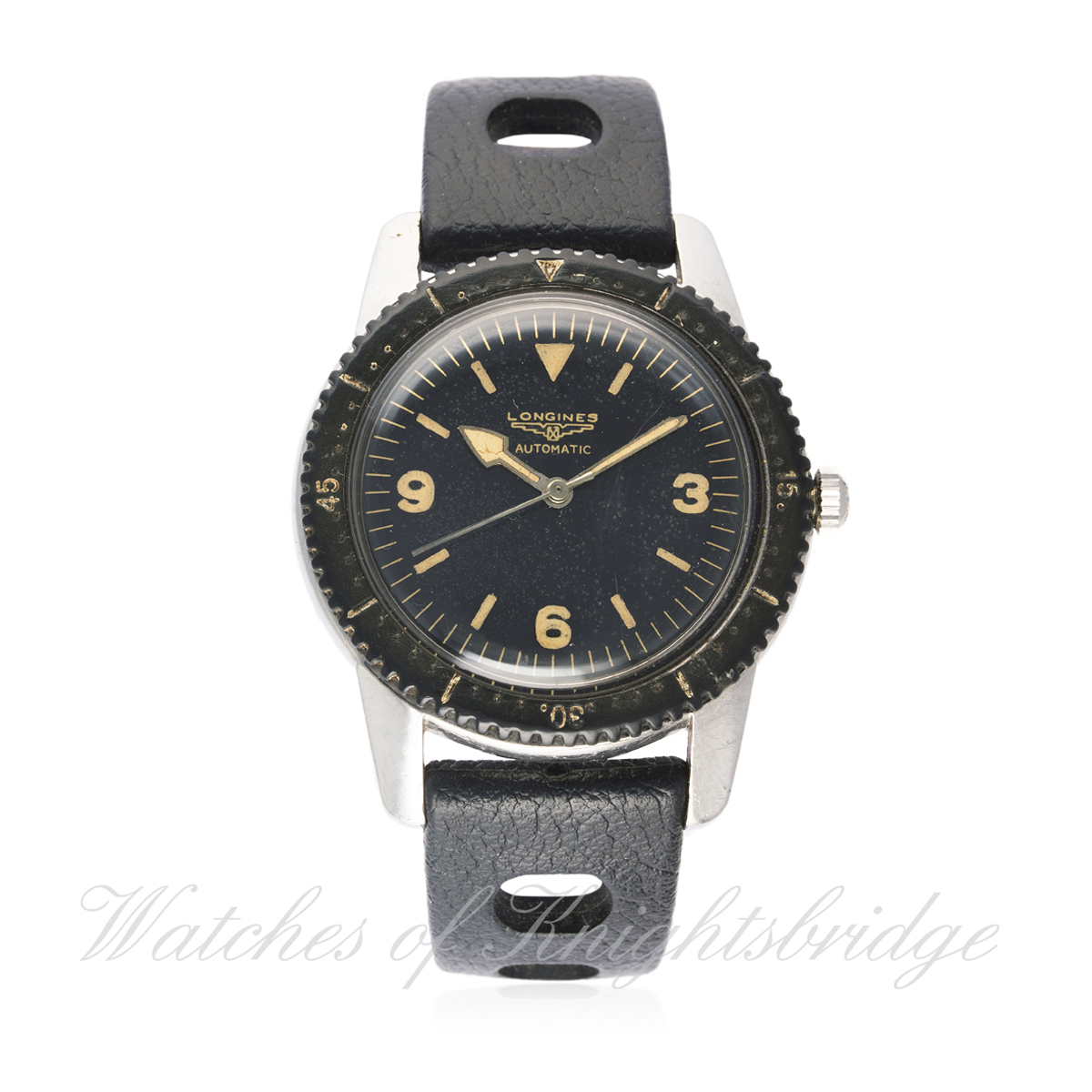 Lot 199 - A RARE GENTLEMAN'S STAINLESS STEEL LONGINES NAUTILUS SKIN DIVER WRIST WATCH CIRCA 1957, WITH