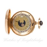Lot 5 - A RARE GENTLEMAN'S 18K SOLID GOLD FULL HUNTER REPEATING TRIPLE CALENDAR MOONPHASE POCKET WATCH
