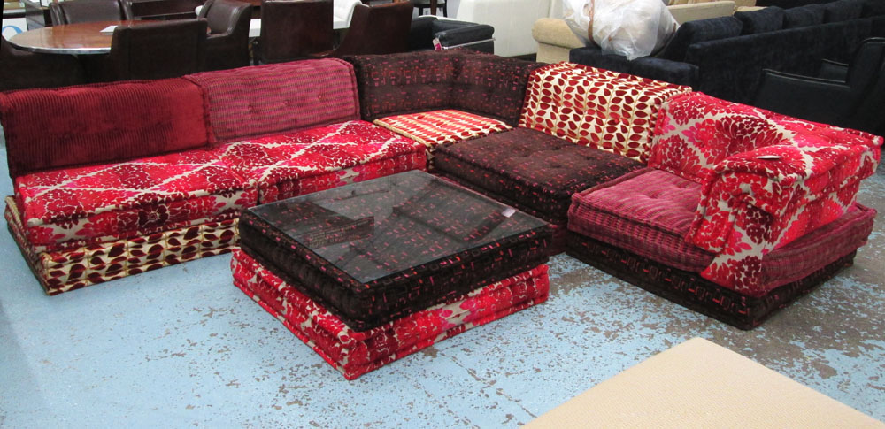 roche bobois mah jong modular sofa made up of five. Black Bedroom Furniture Sets. Home Design Ideas